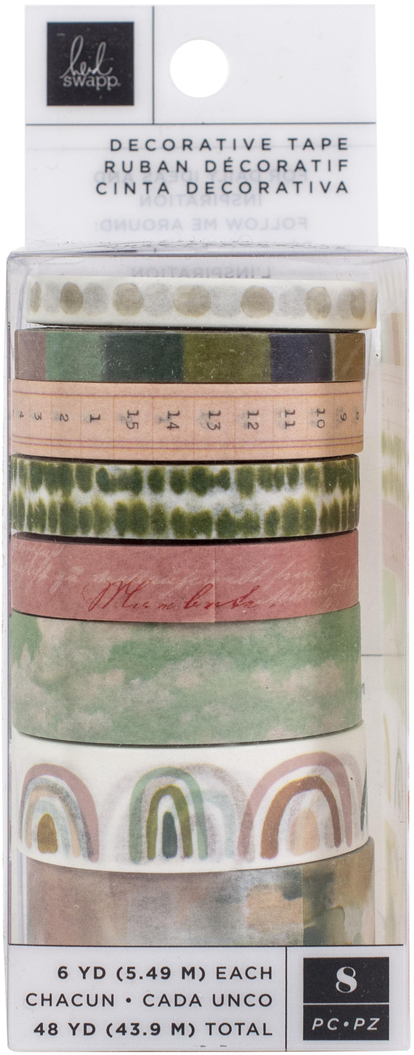 Heidi Swapp Care Free Washi Tape Rolls 8/Pkg-6 Yards Each