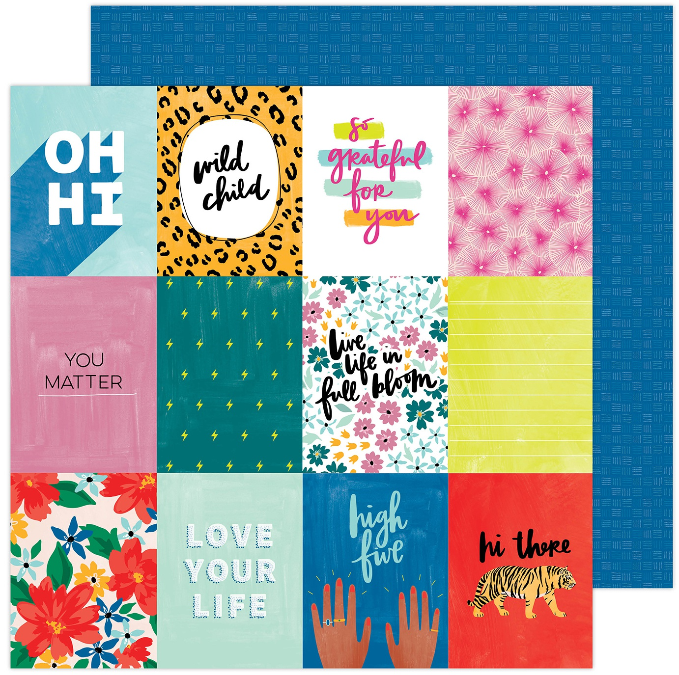 Amy Tan Brave & Bold Double-Sided Cardstock 12X12-High Five