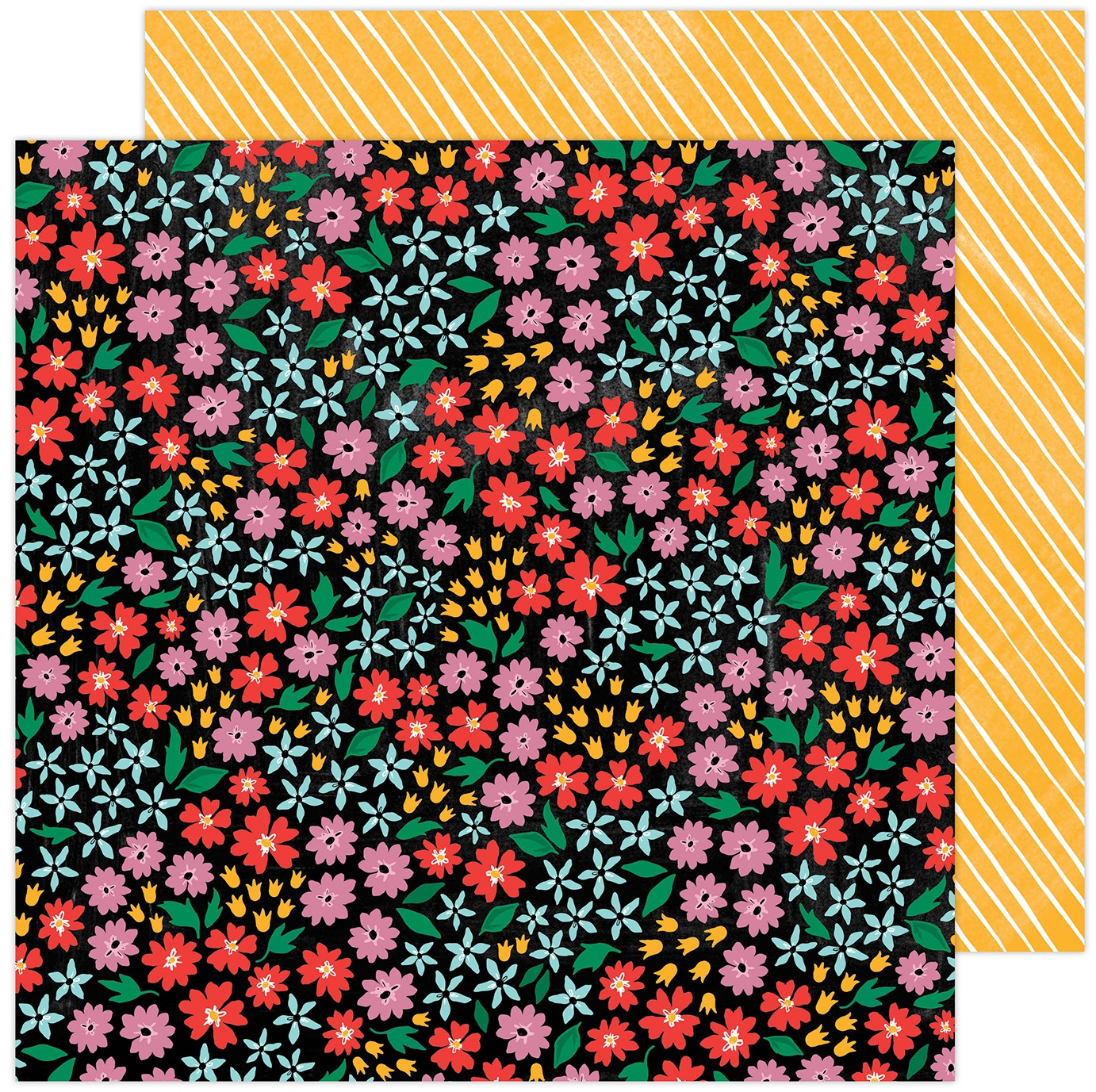 Amy Tan Brave & Bold Double-Sided Cardstock 12X12-Full Bloom