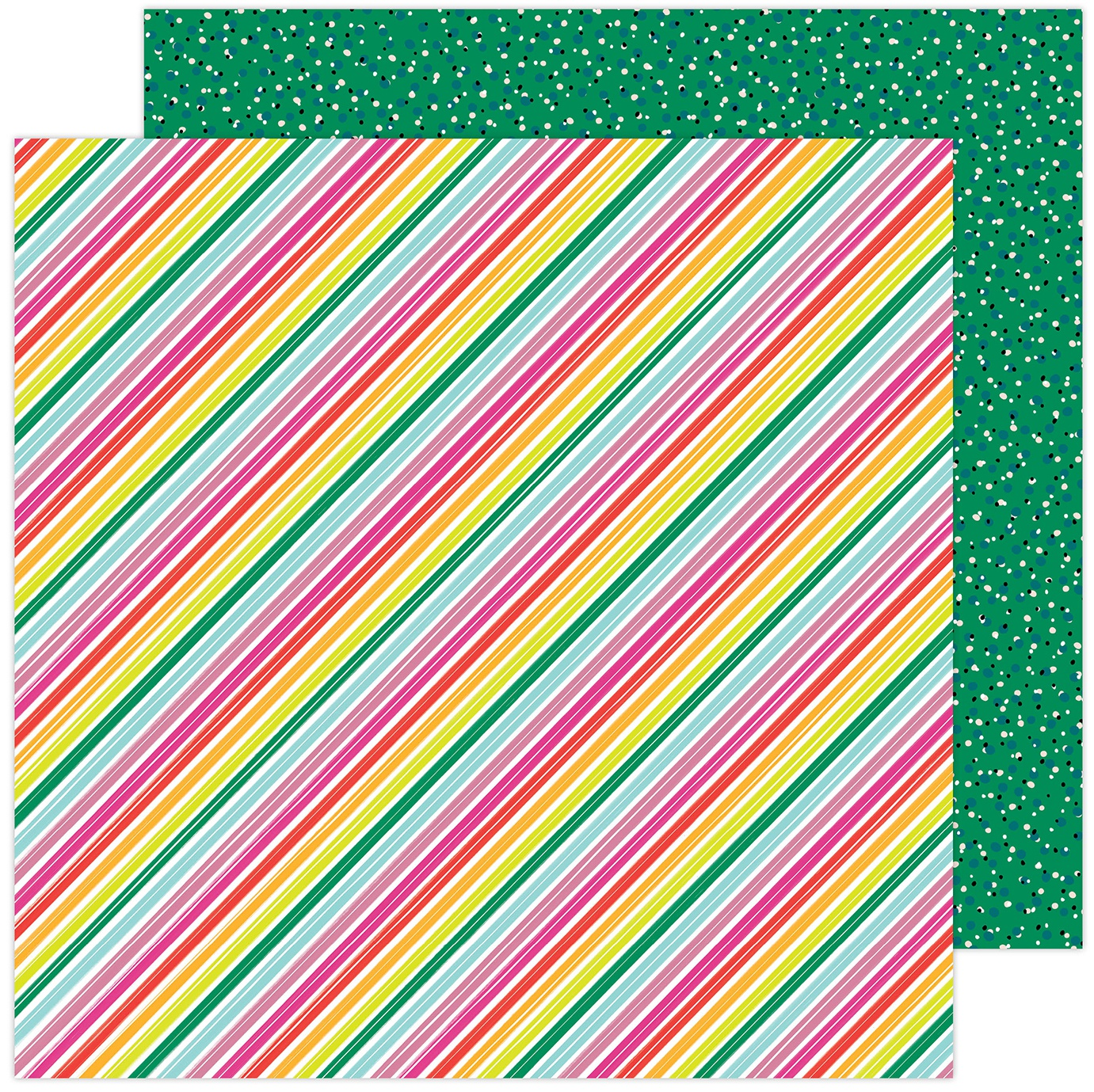 Amy Tan Brave & Bold Double-Sided Cardstock 12X12-Summer Stripes
