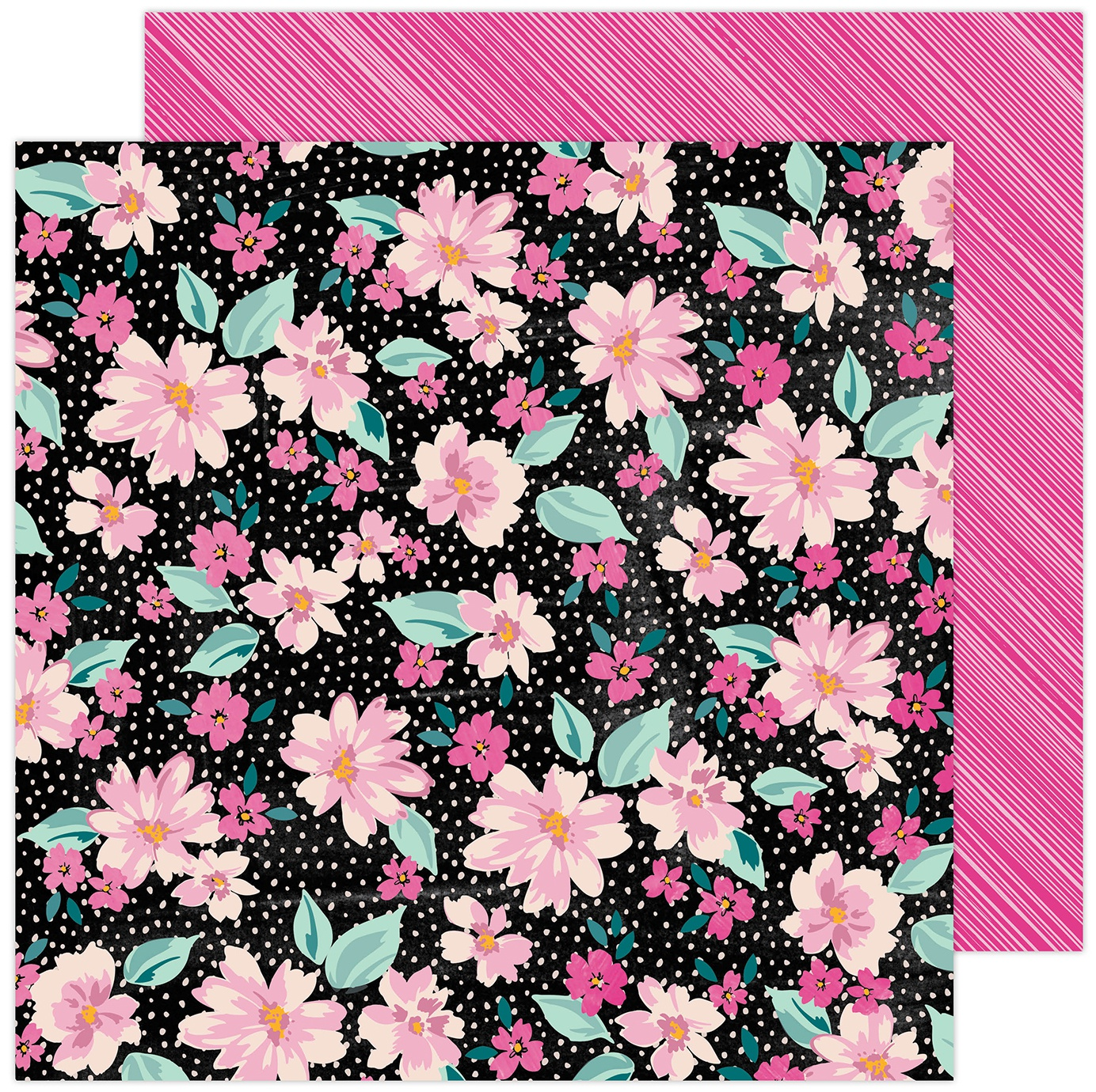 Amy Tan Brave & Bold Double-Sided Cardstock 12X12-Midnight Garden