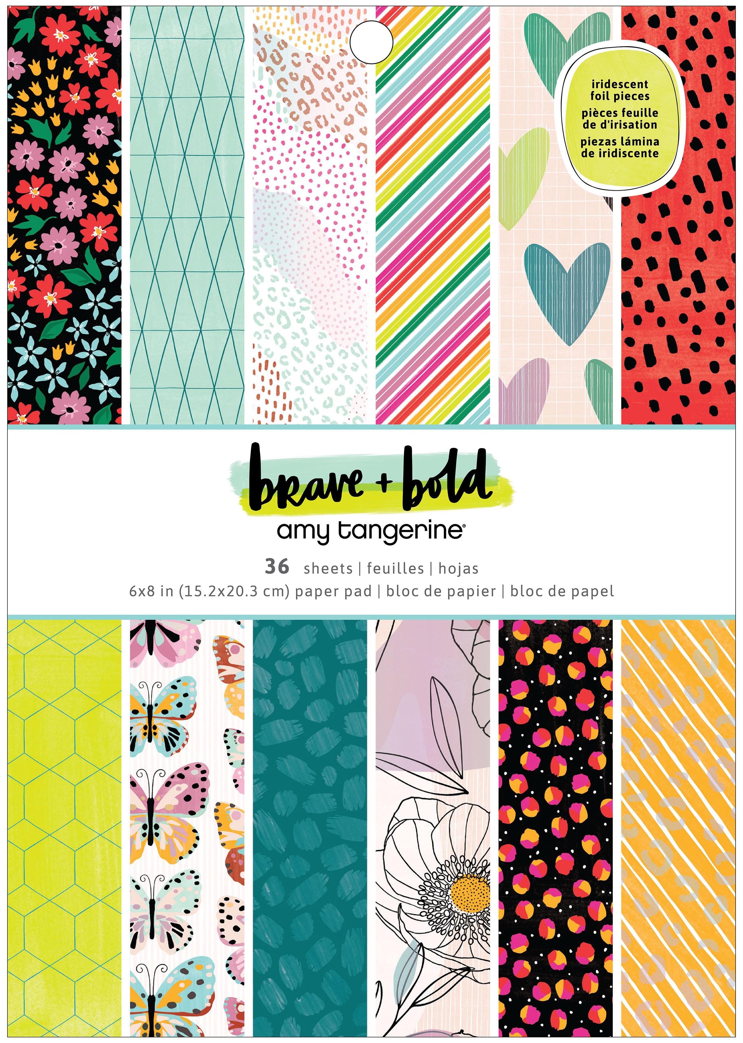 American Crafts Single-Sided Paper Pad 6X8 36/Pkg-Amy Tan Brave & Bold