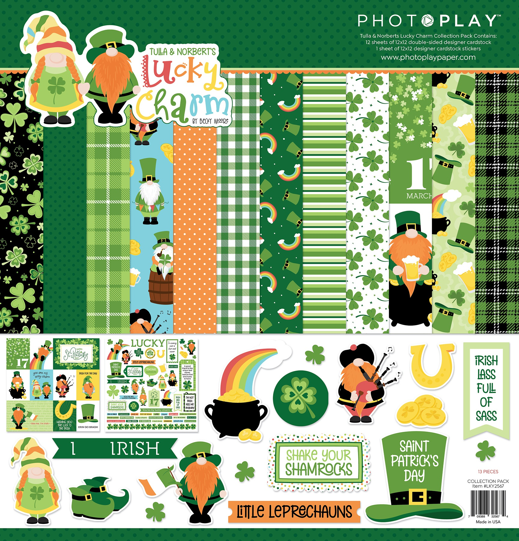 PhotoPlay Collection Pack 12X12-Tulla & Norbert's Lucky Charm