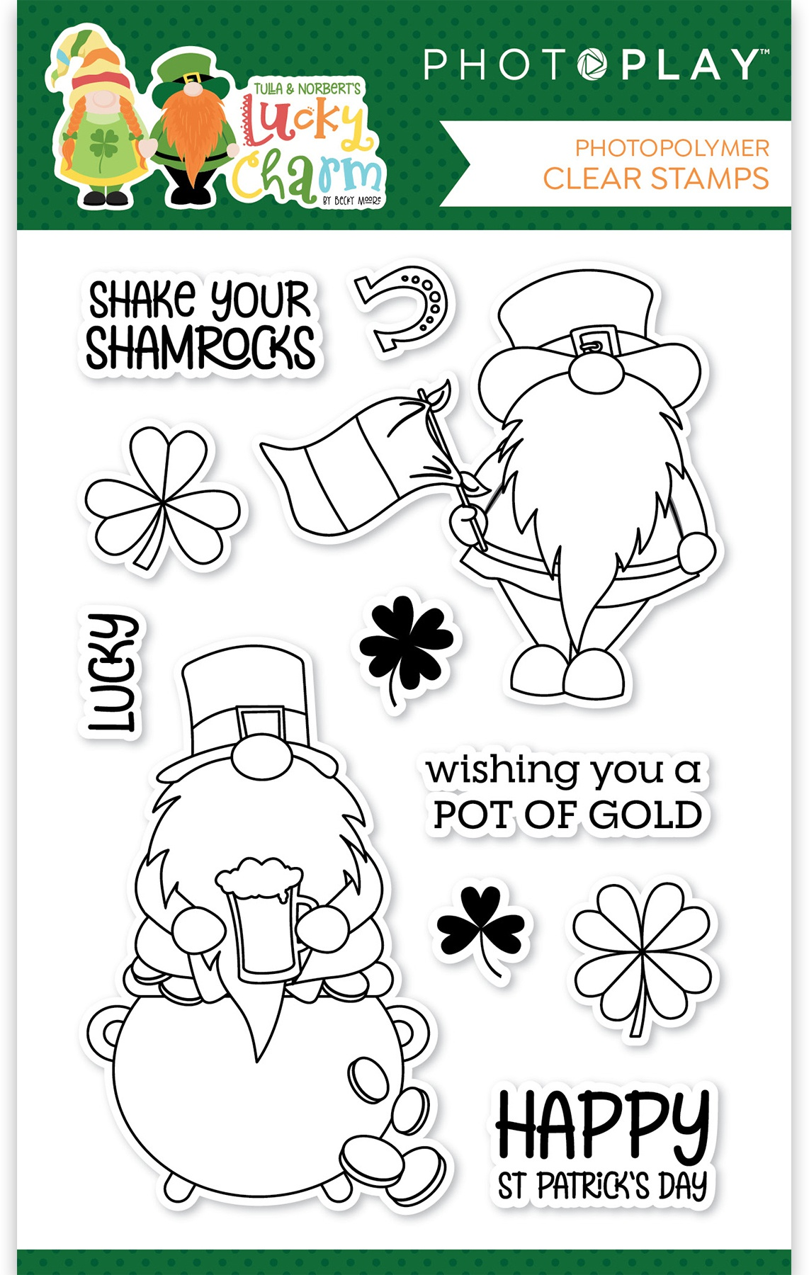 PhotoPlay Photopolymer Stamp-Tulla & Norbert's Lucky Charm