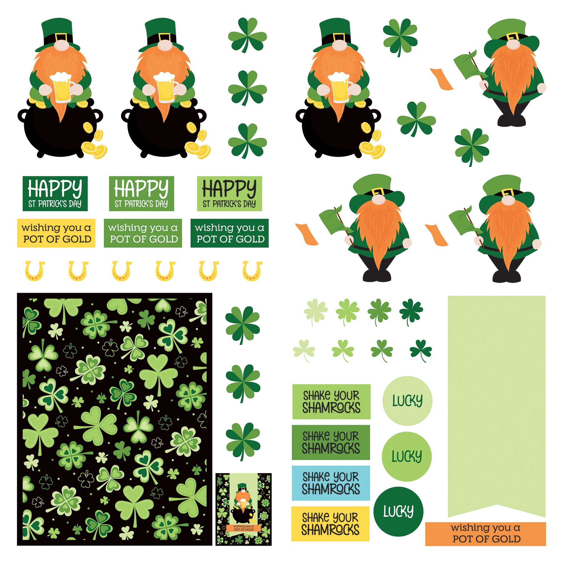 Tulla & Norberts Lucky Charm Dies 12x12 Paper