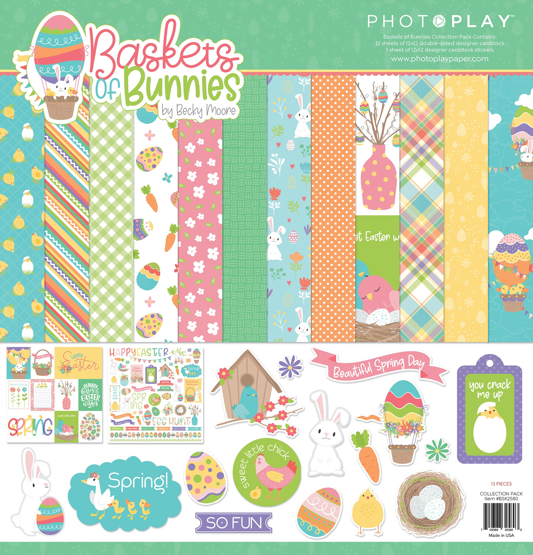 PhotoPlay Baskets of Bunnies Collection Pack 12x12