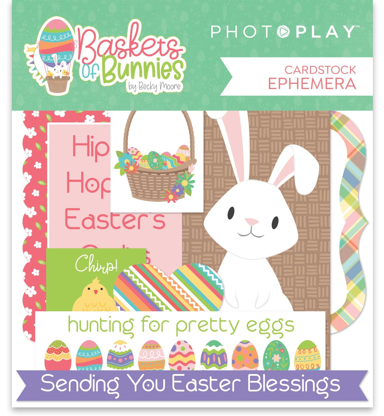 Baskets Of Bunnies Ephemera Cardstock Die-Cuts-