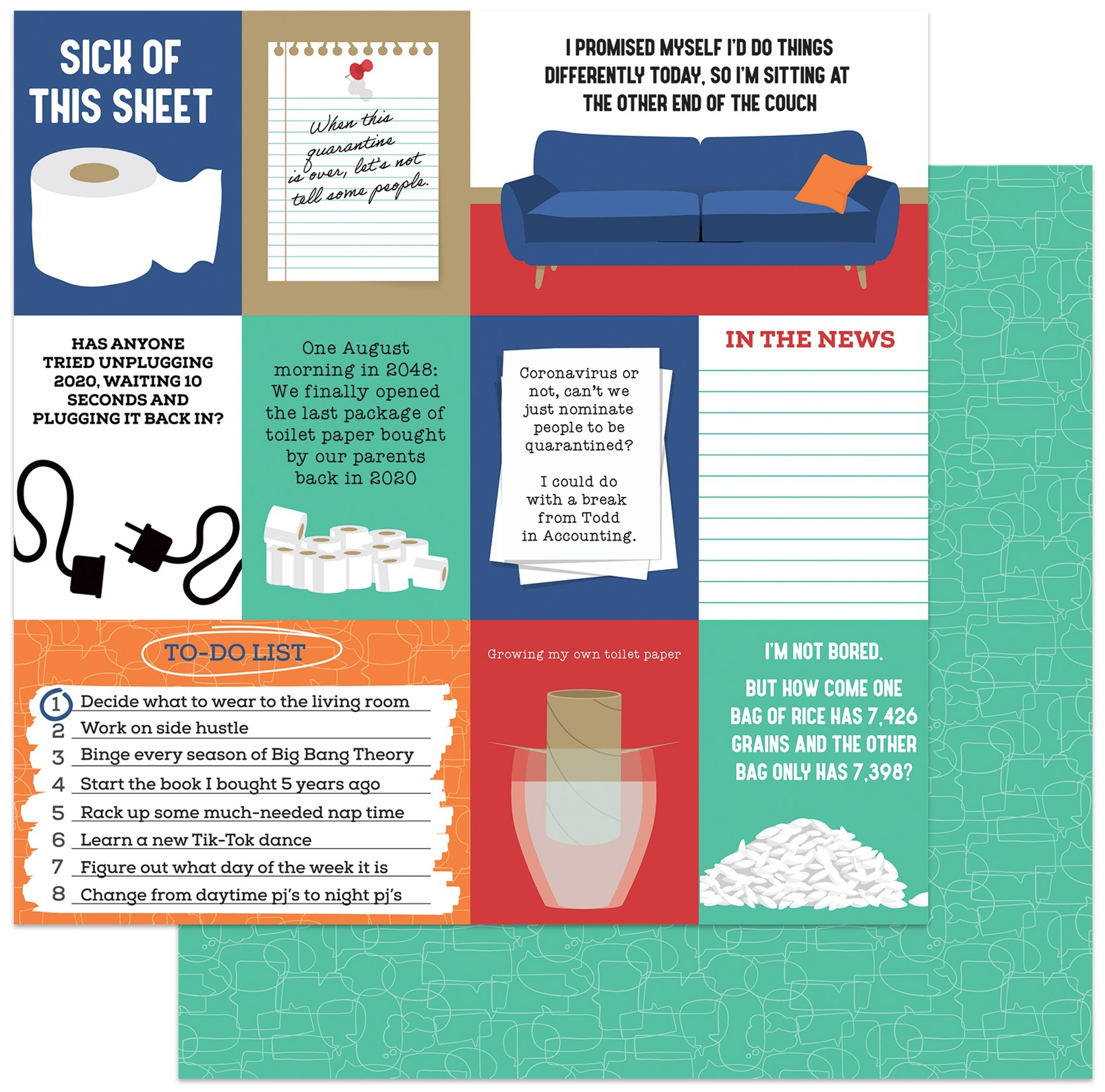 Laugh Or Cry: Quarantine Life Outtakes Cardstock 12X12-Sick Of This Sheet