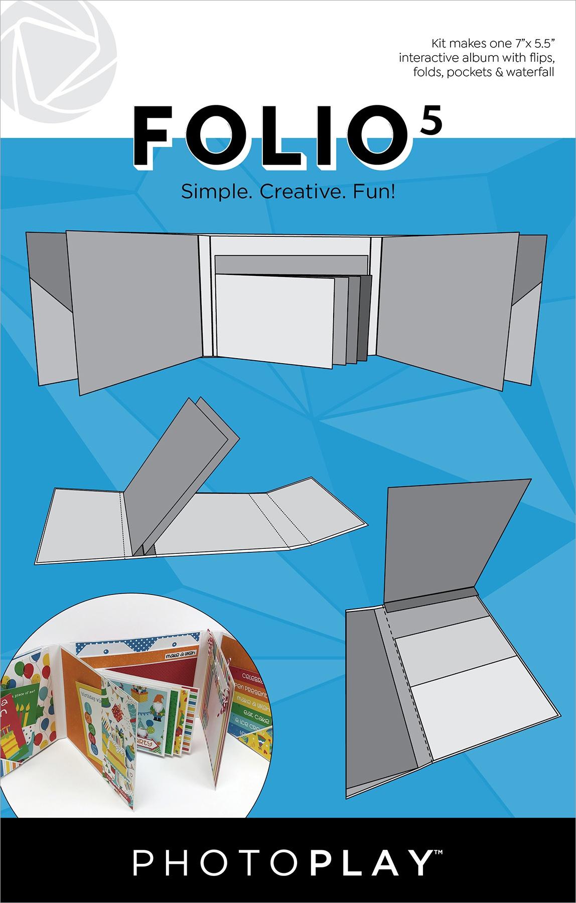 PhotoPlay Folio 5 - White, 7 x 5.5