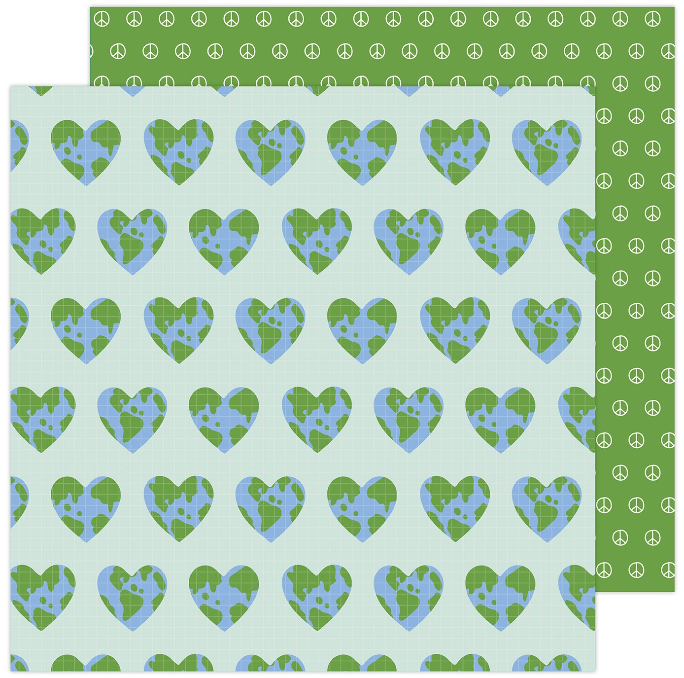 Jen Hadfield Reaching Out Double-Sided Cardstock 12X12-One World