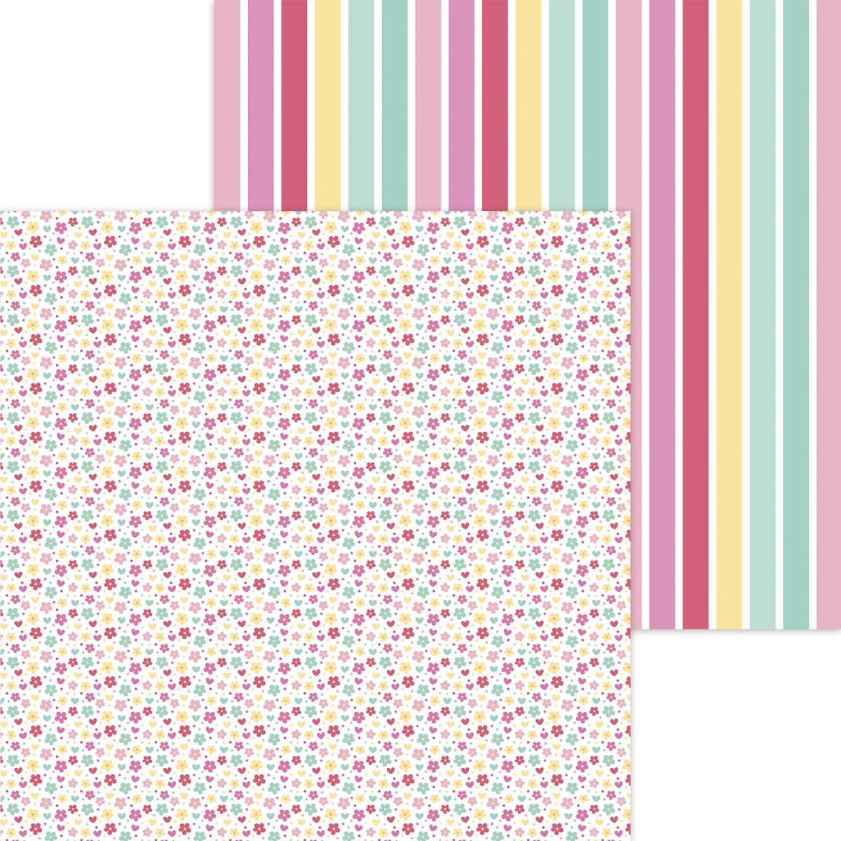 Doodlebug - Made With Love - APRON STRINGS - 12x12 Double-Sided Paper