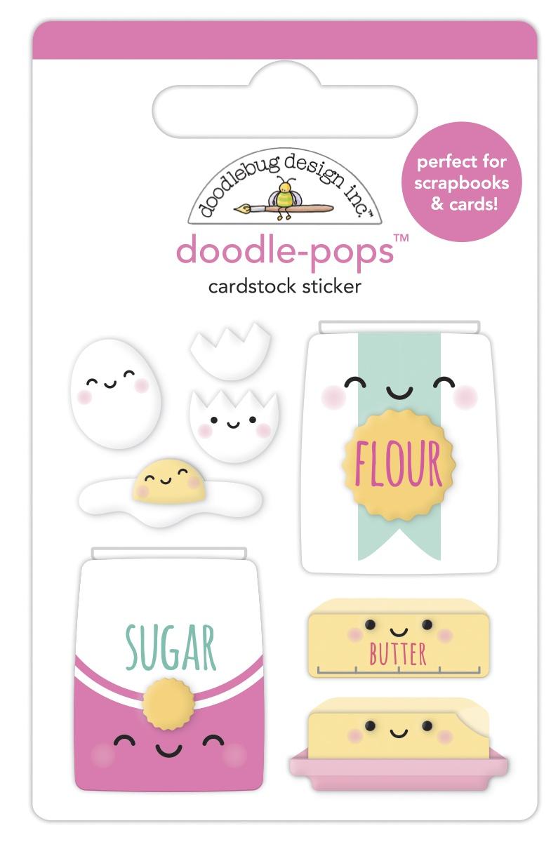 Doodlebug Doodle-Pops 3D Stickers-Bake Me Happy