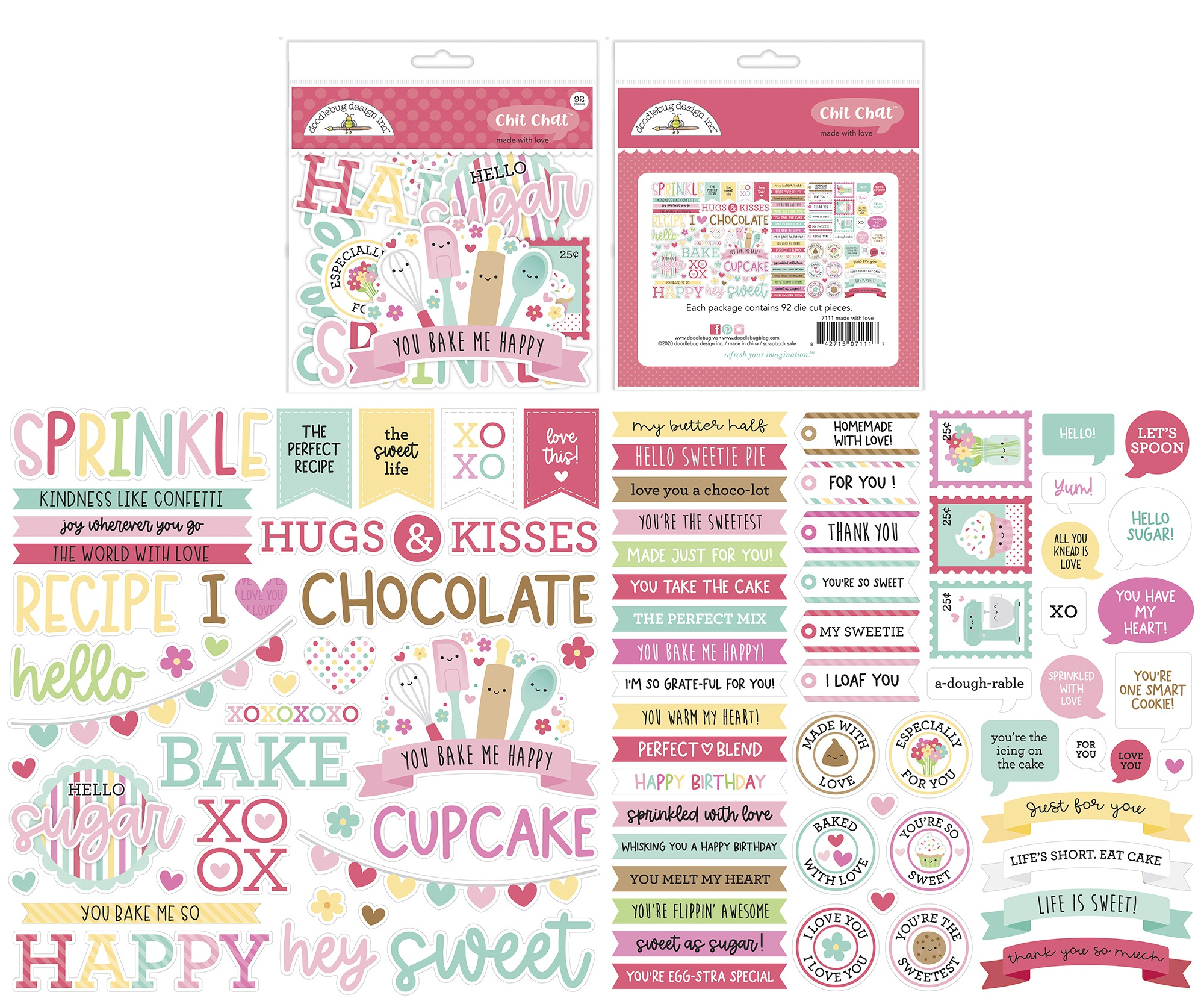 Doodlebug Chit Chat Die-Cuts-Made With Love