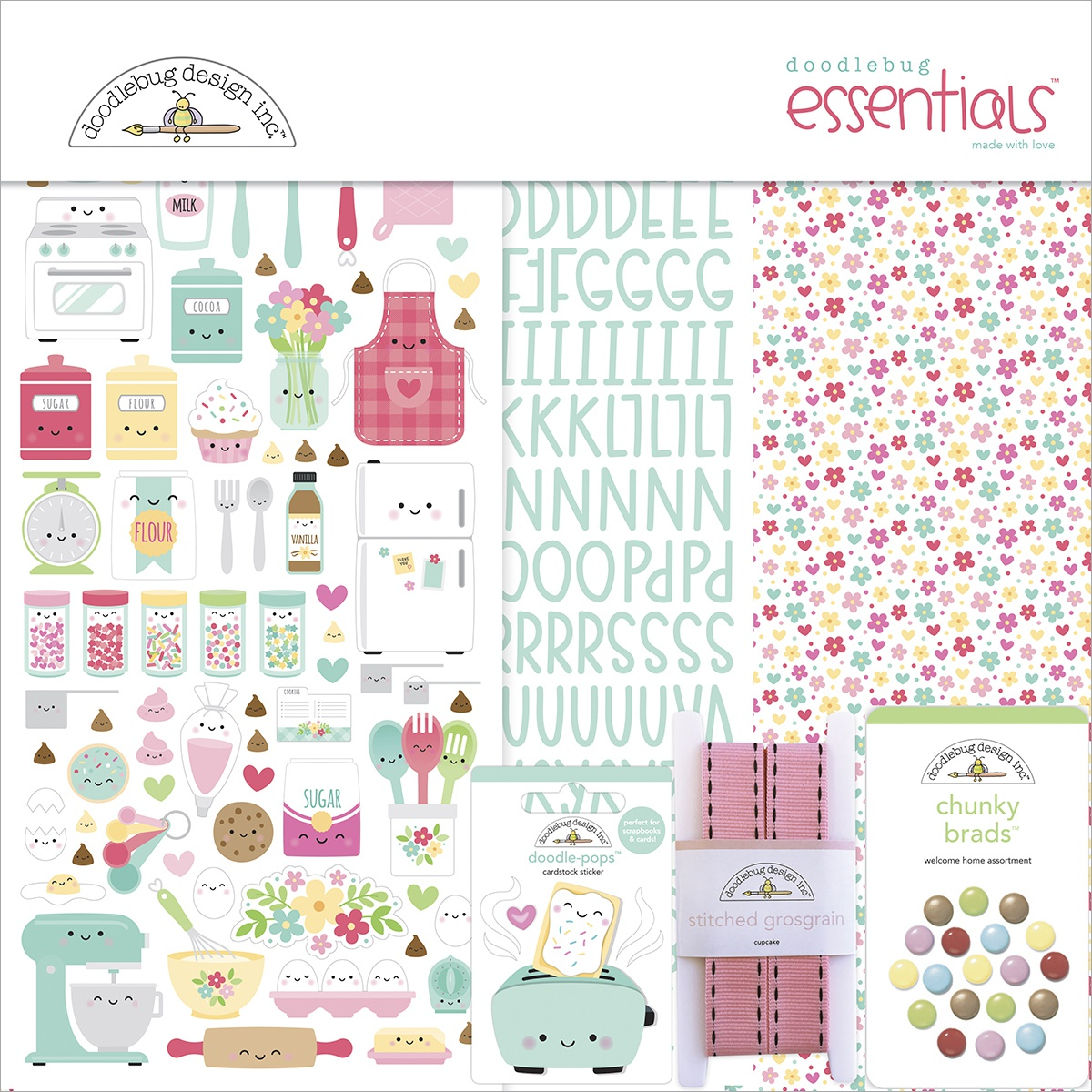 Doodlebug Essentials Page Kit 12X12-Made With Love