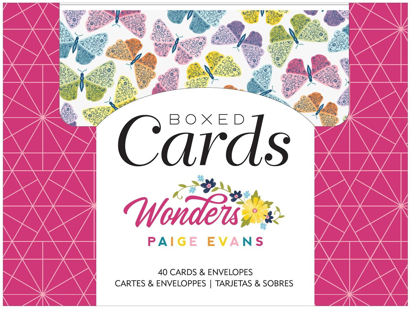 American Crafts A2 Cards W/Envelopes (4.375X5.75) 40/Box-Paige Evans Wonders
