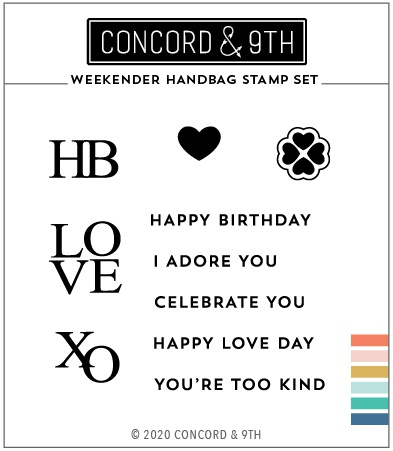 Concord & 9th Clear Stamps 3X3-Weekender Handbag