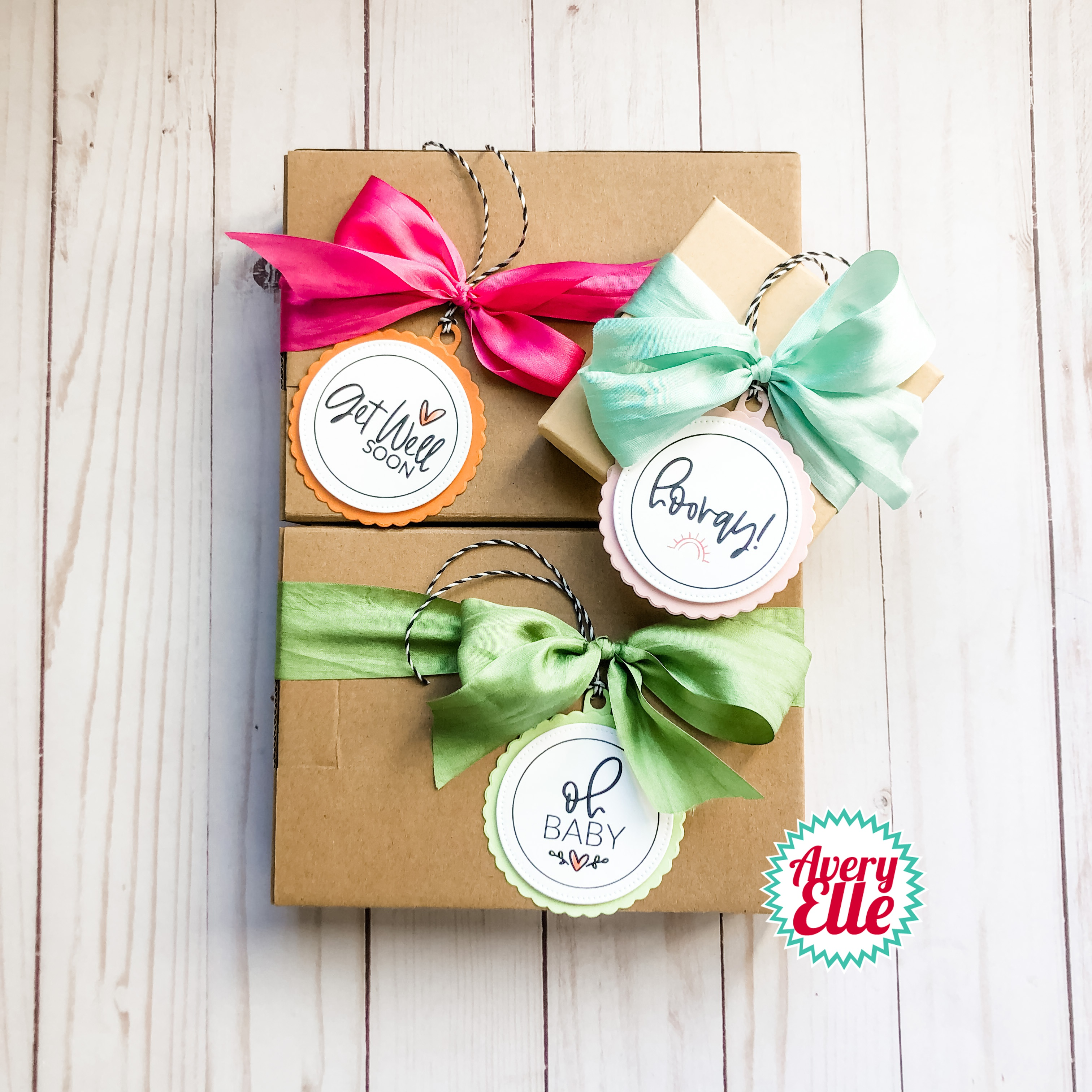 Avery Elle Clear Stamp Set 4X6-Everyday Circle Tags