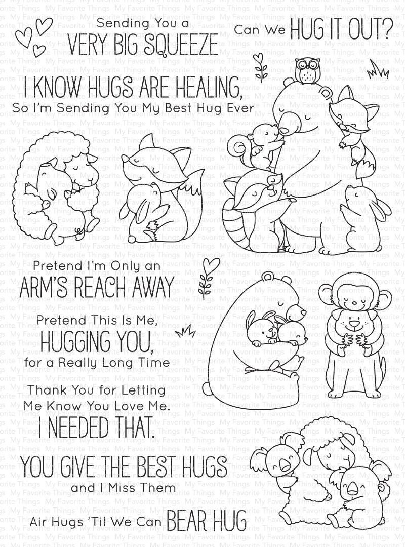 My Favorite Things Birdie Brown Stamps 6X8-Hug It Out