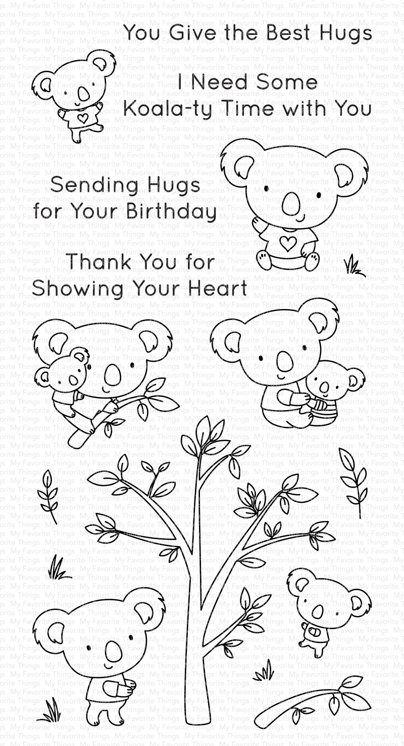 My Favorite Things Clearly Sentimental Stamps 4X8-Koala-ty Time