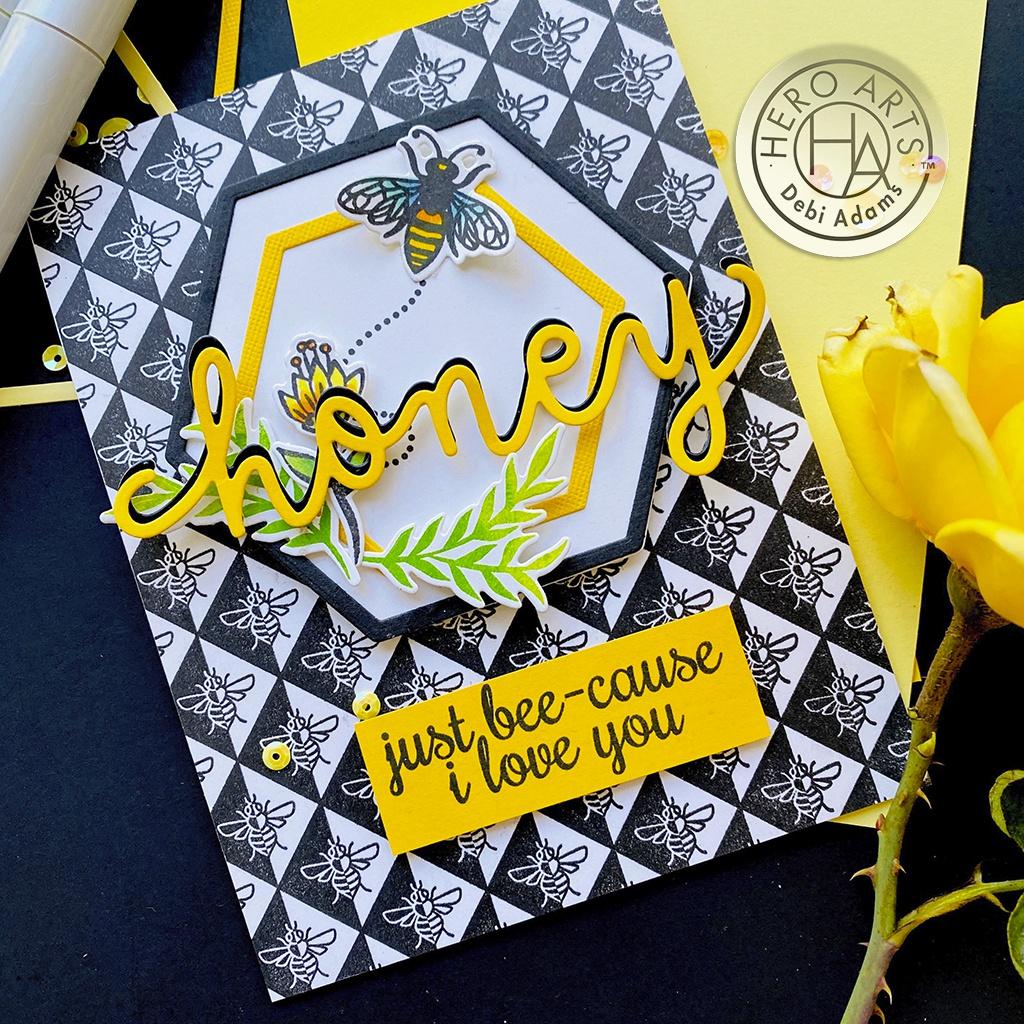 Hero Arts Cling Stamps 6X6-Geometric Bee Bold Prints