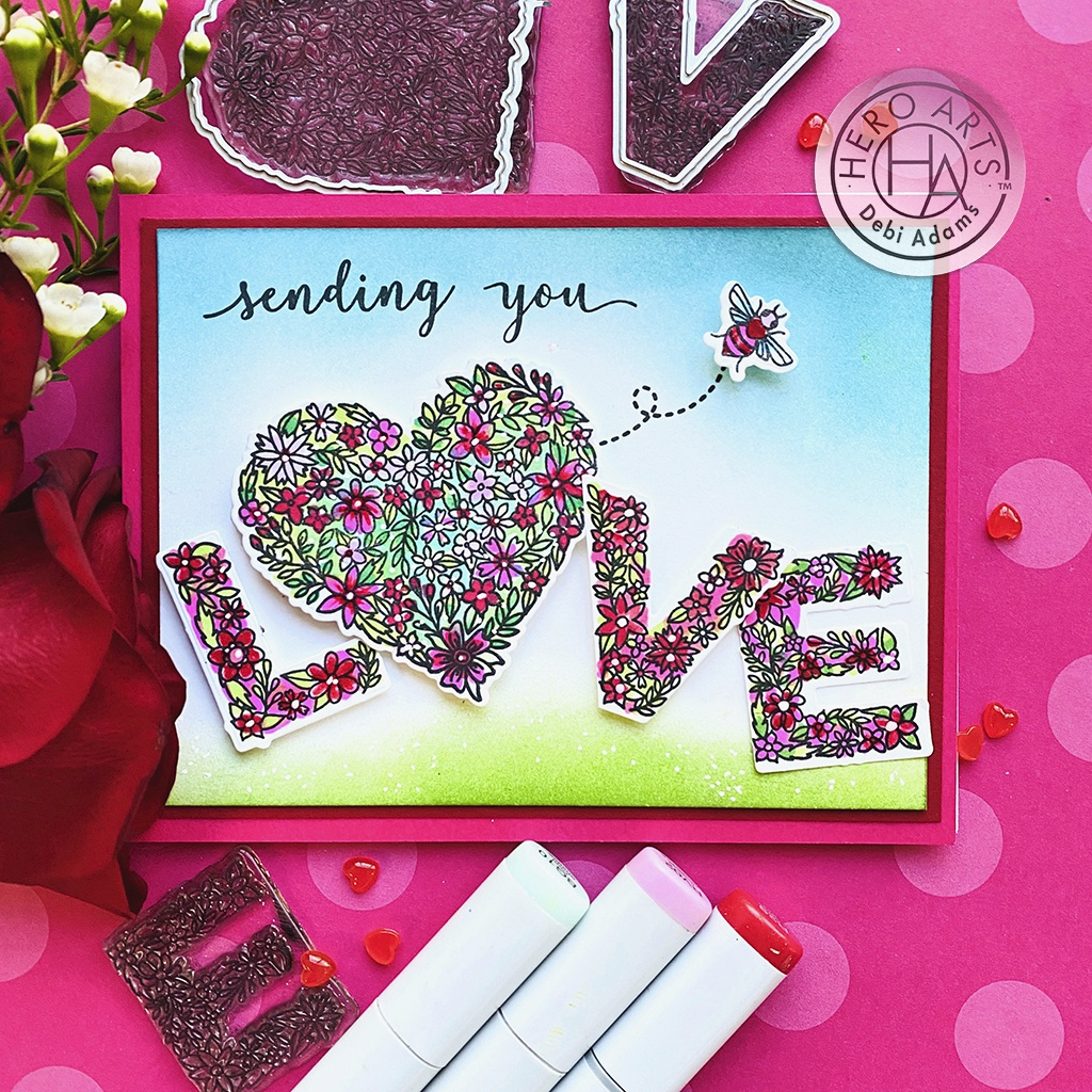 Hero Arts Clear Stamps 4X6-Floral Love