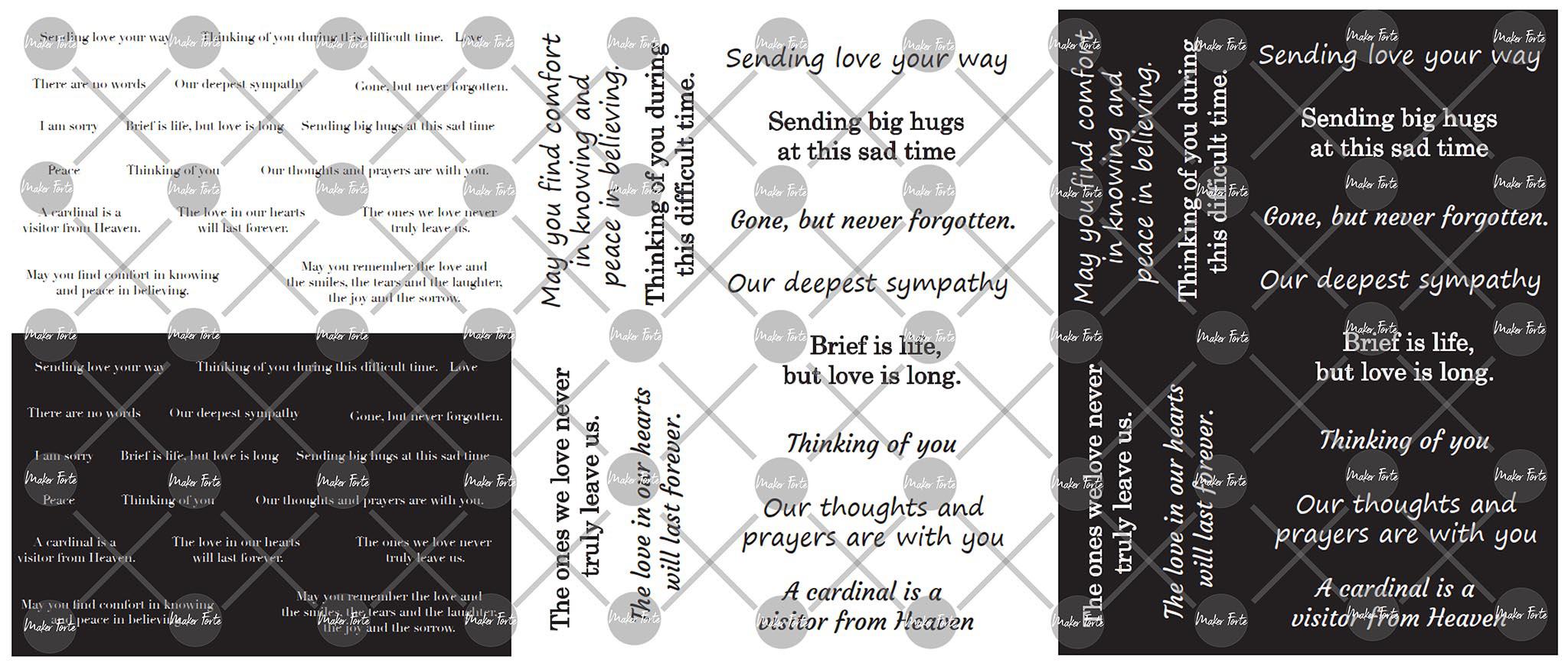 Maker Forte Simple Sayings Cardstock 8.5X11 3/Pkg-Sympathy