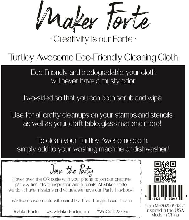 Maker Forte Turtley Awesome Eco-Friendly Cleaning Cloth-