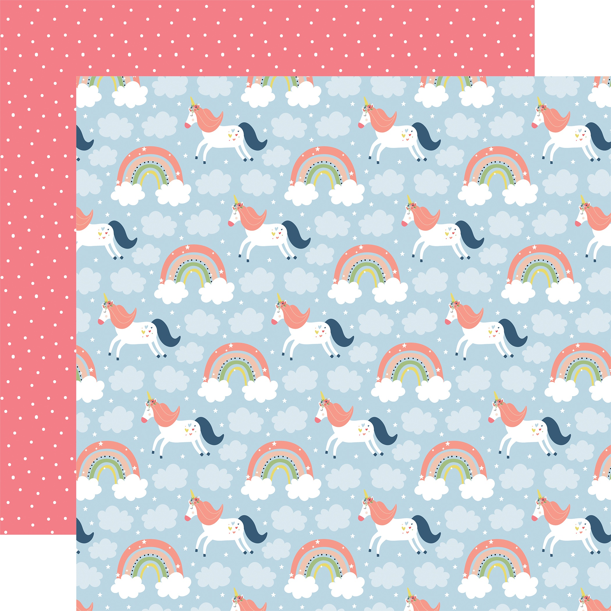 COLLECTION: Little Dreamer Girl Double-Sided Cardstock 12X12