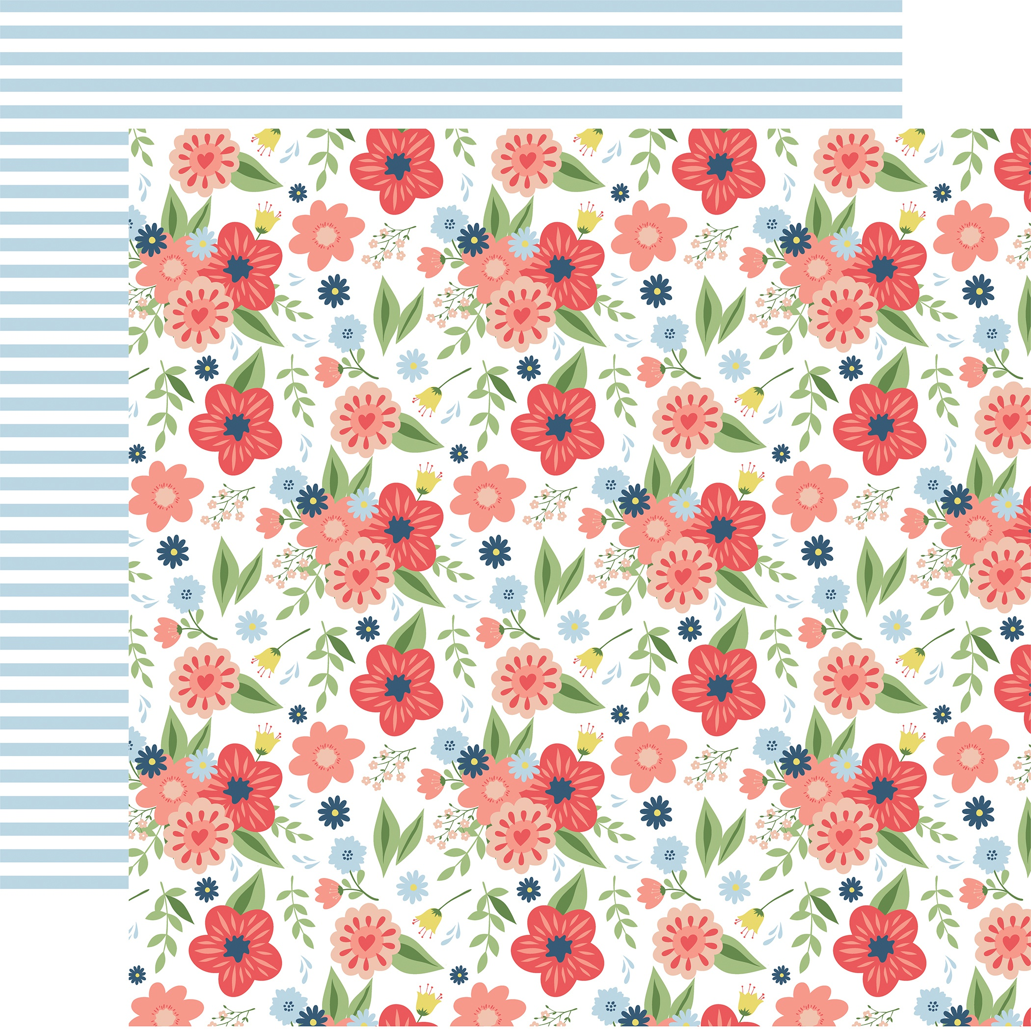 Little Dreamer Girl Double-Sided Cardstock 12X12-Dreamy Floral