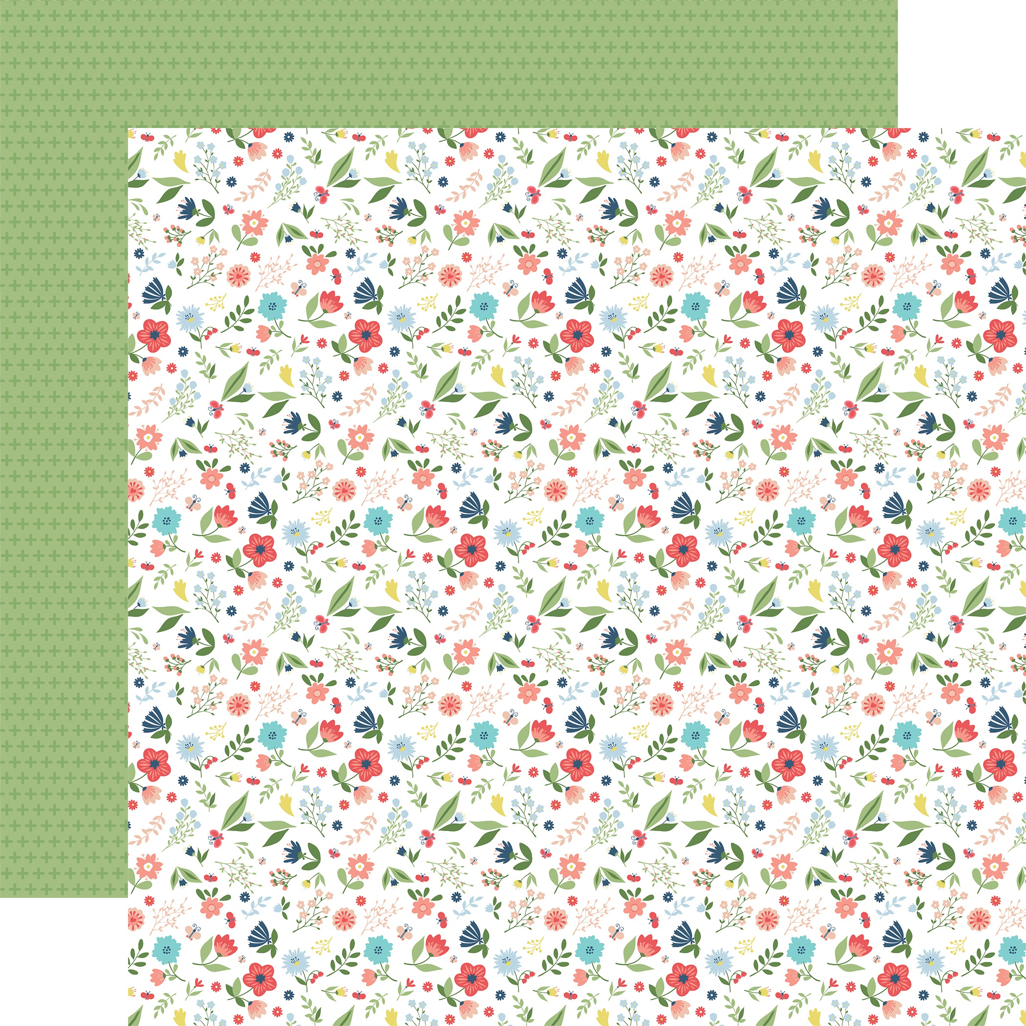 Little Dreamer Girl Double-Sided Cardstock 12X12-Pocketful of Posies