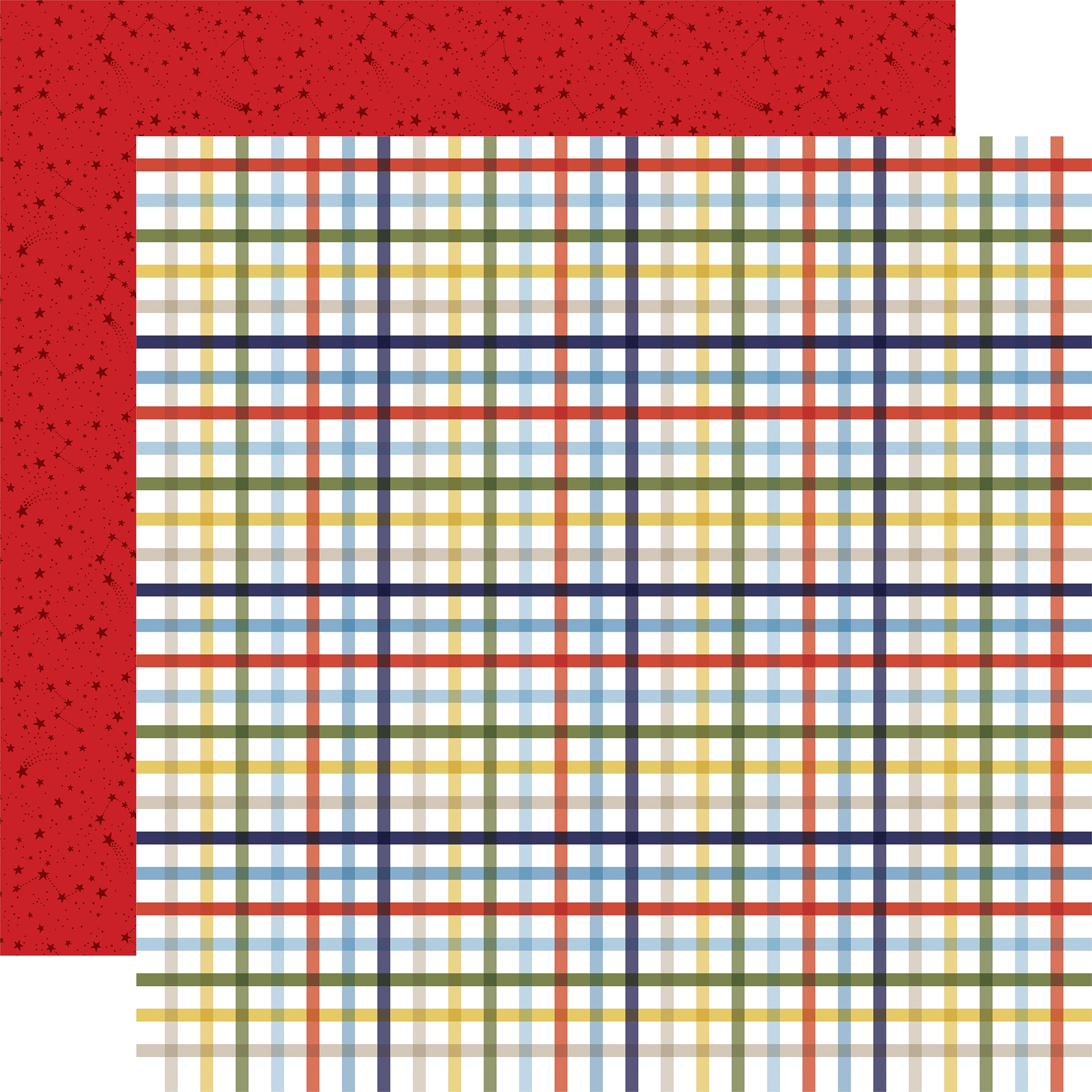 Little Dreamer Boy Double-Sided Cardstock 12X12-Playtime Plaid