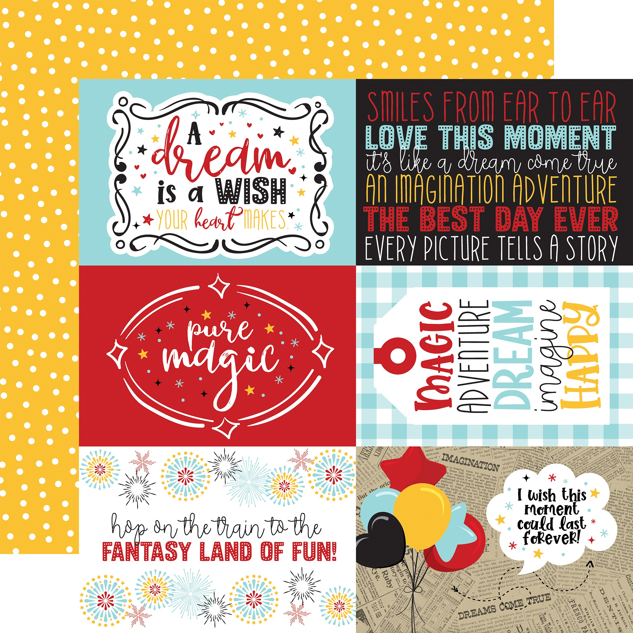 A Magical Place Double-Sided Cardstock 12X12-6X4 Journaling Cards