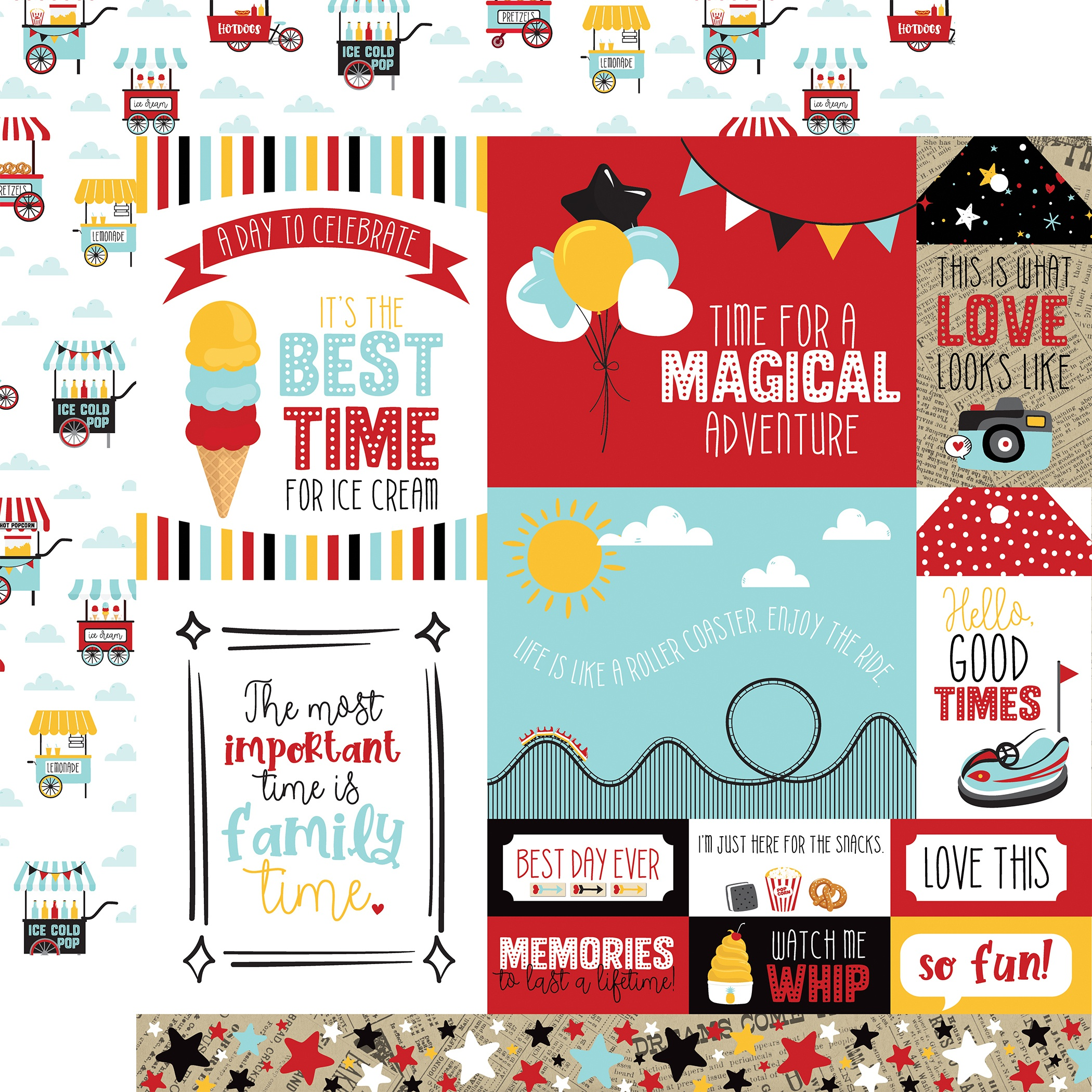 A Magical Place Double-Sided Cardstock 12X12-Multi Journaling Cards