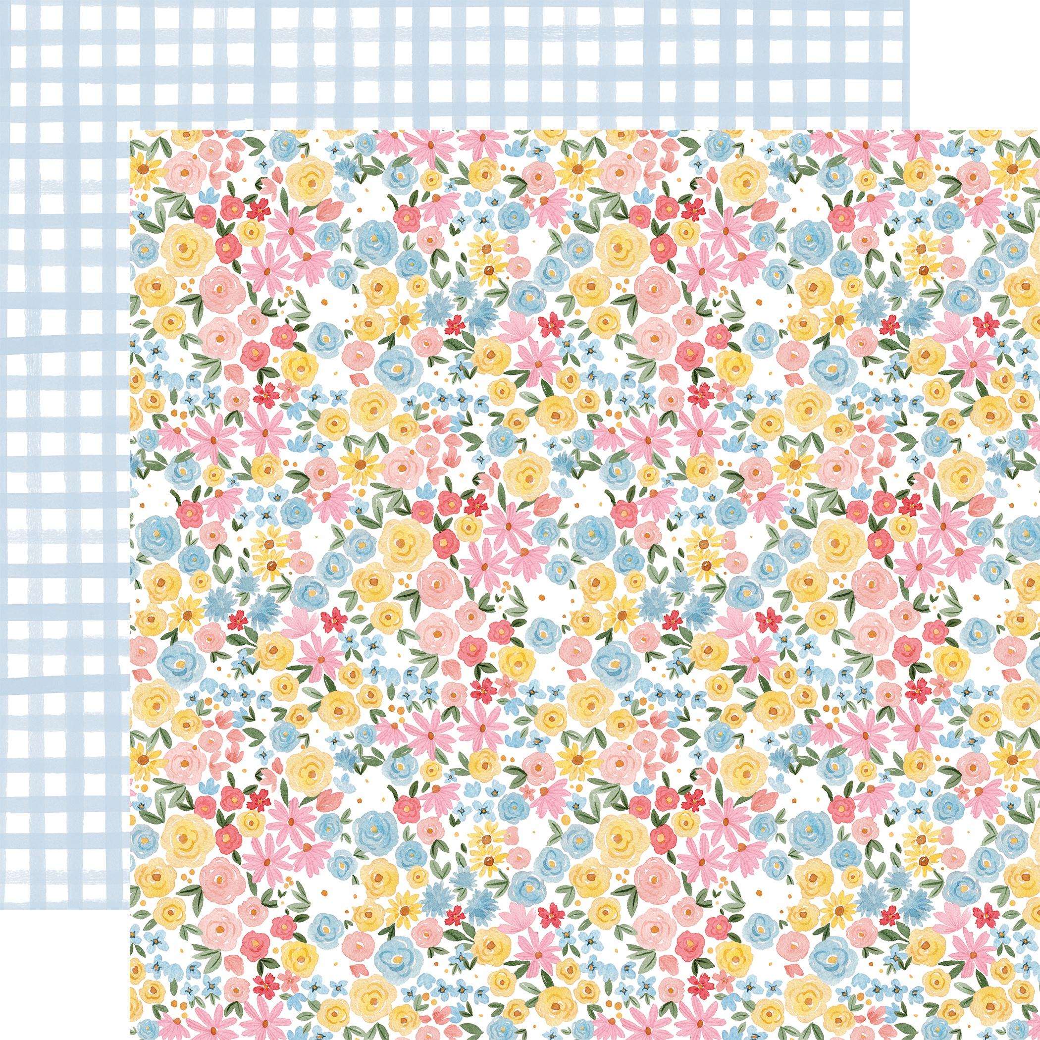 Carta Bella - Summer - BLOOM & GROW - 12x12 Double-Sided Textured Cardstock