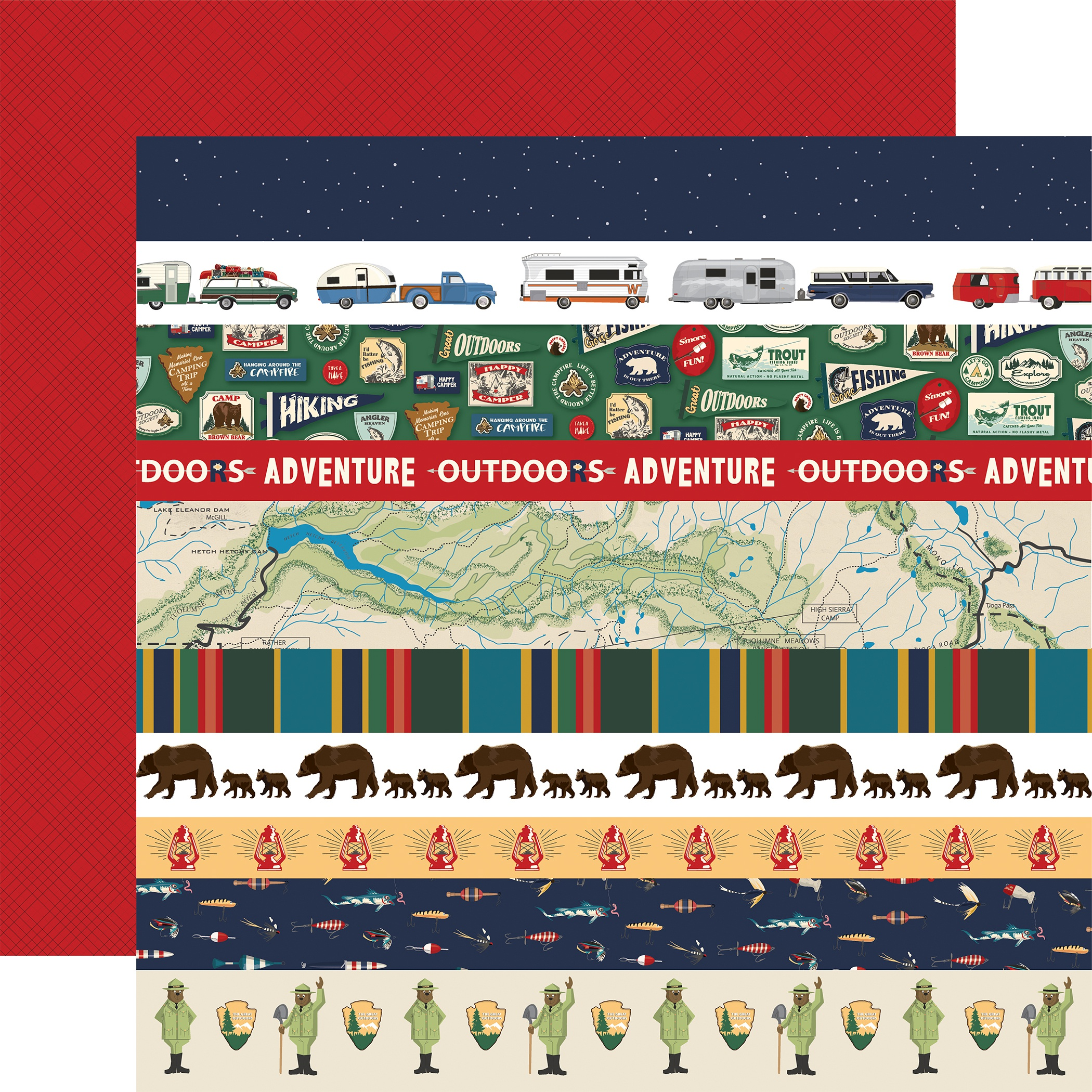 Outdoor Adventures Double-Sided Cardstock 12X12-Border Strips