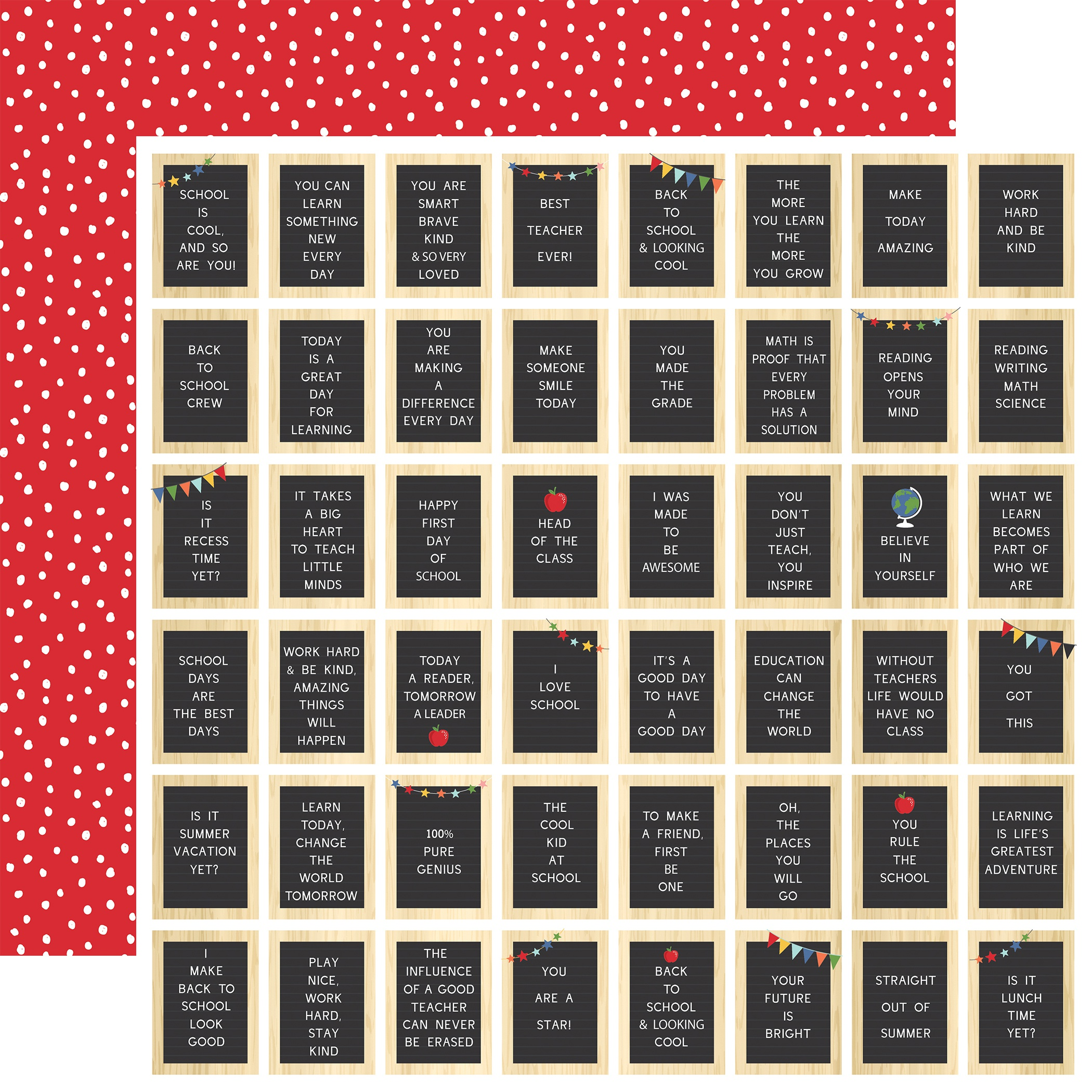 I Love School Double-Sided Cardstock 12X12-School Days