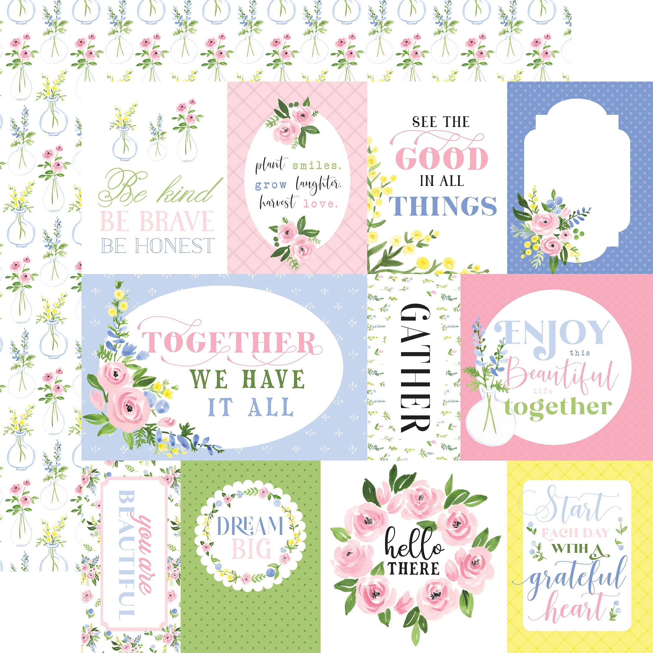 CB Flora #4 - Pastel Journaling Cards