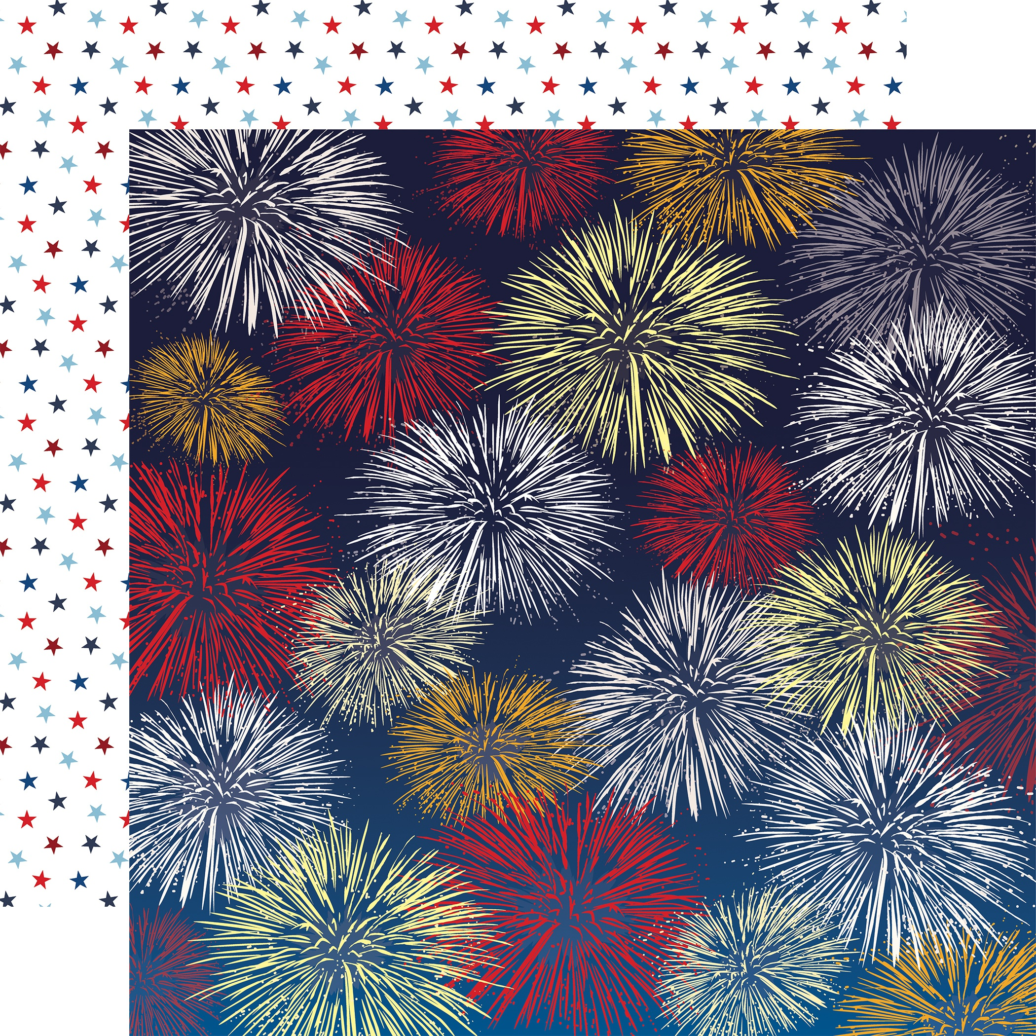 God Bless America Double-Sided Cardstock 12X12-Firework Fiesta