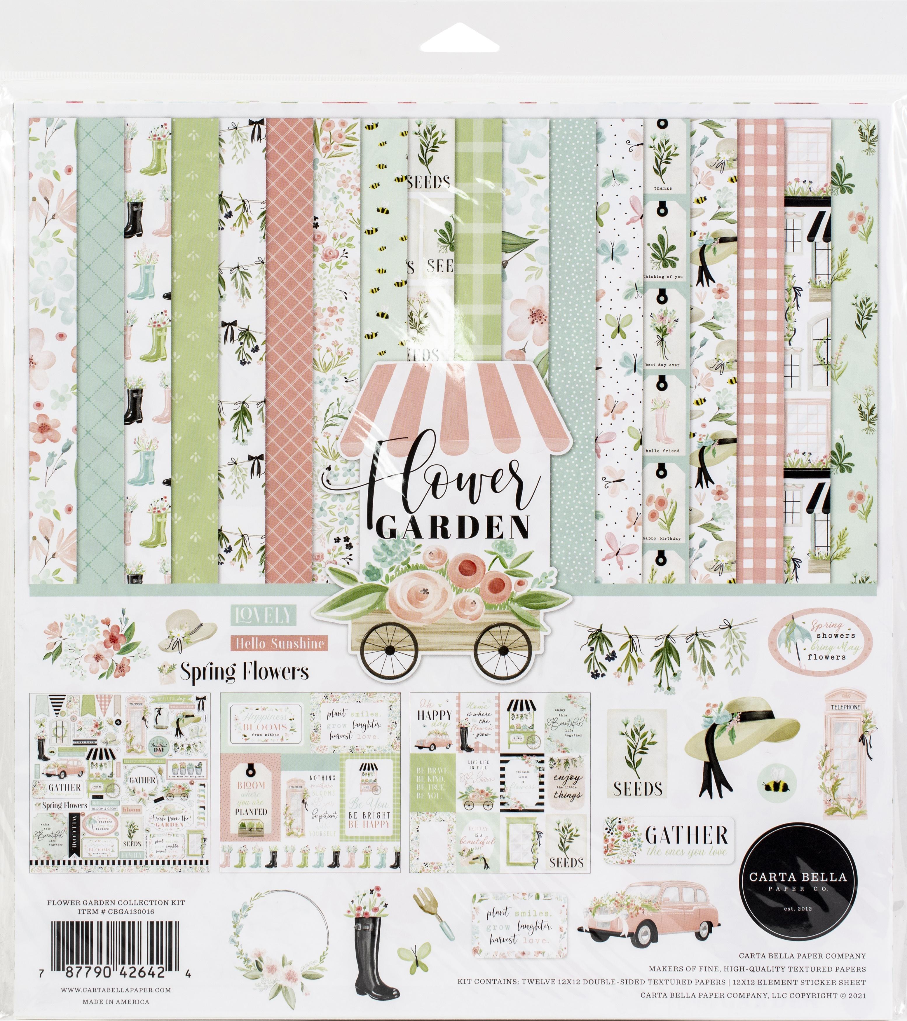 Carta Bella Collection Kit 12X12-Flower Garden
