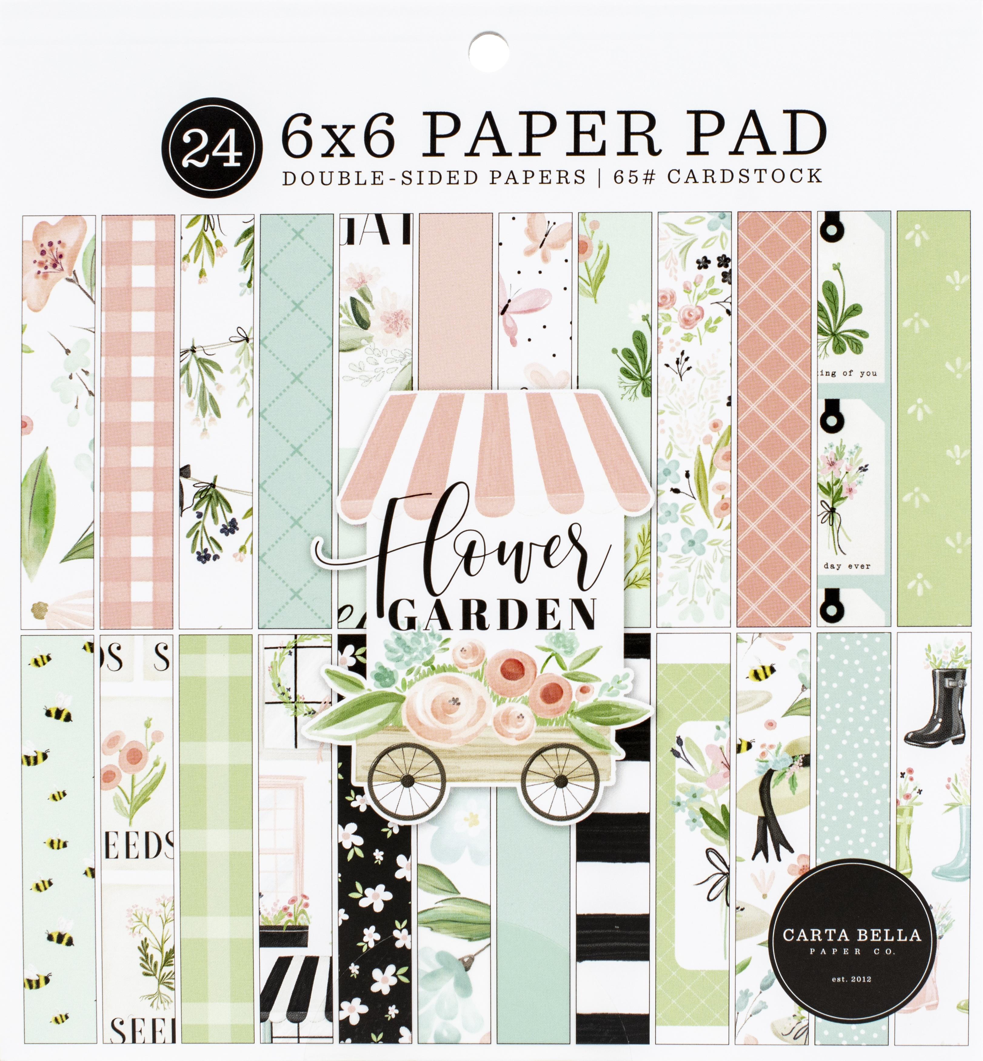 Carta Bella Double-Sided Paper Pad 6X6 24/Pkg-Flower Garden