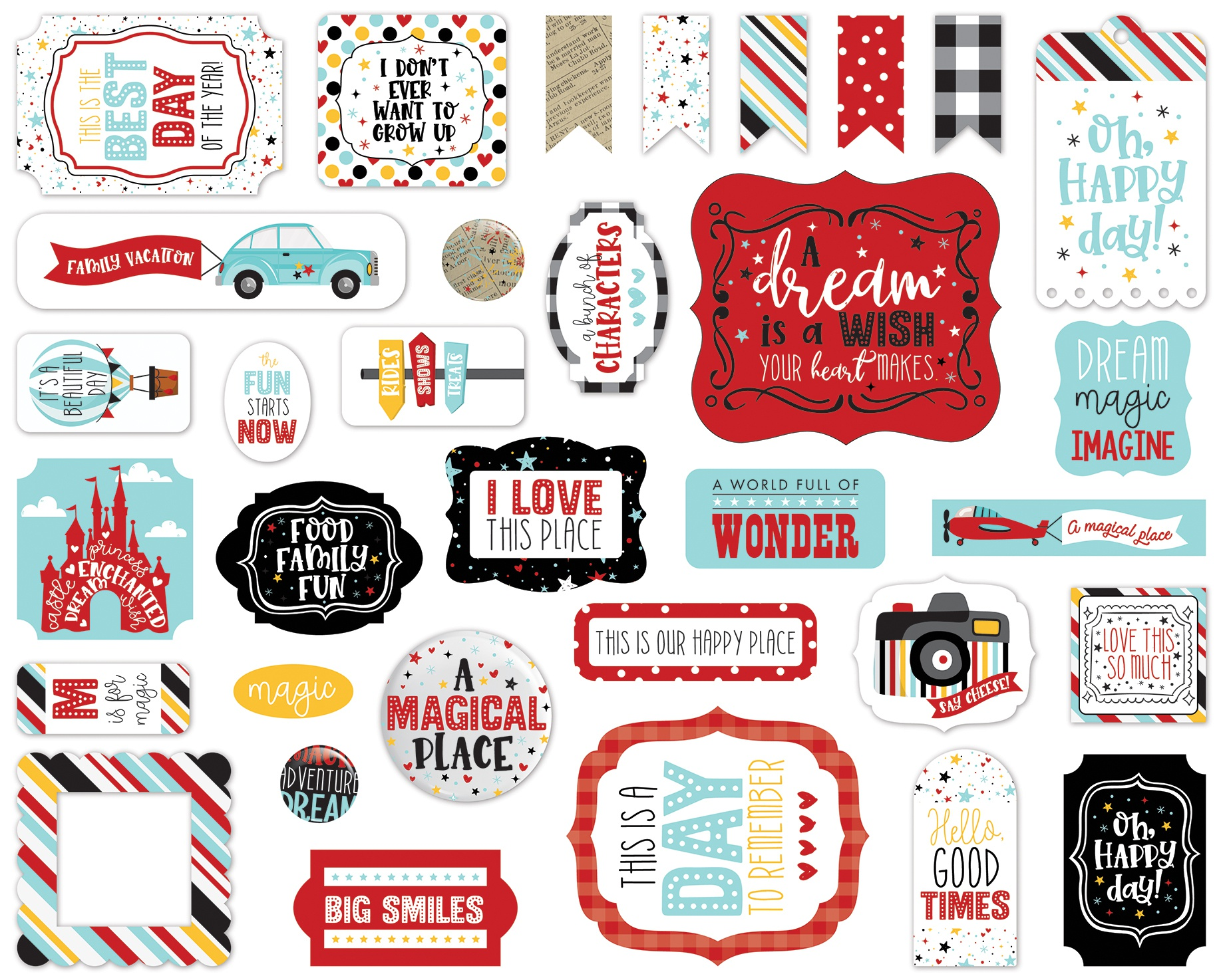 Echo Park Cardstock Ephemera 33/Pkg-Icons, A Magical Place