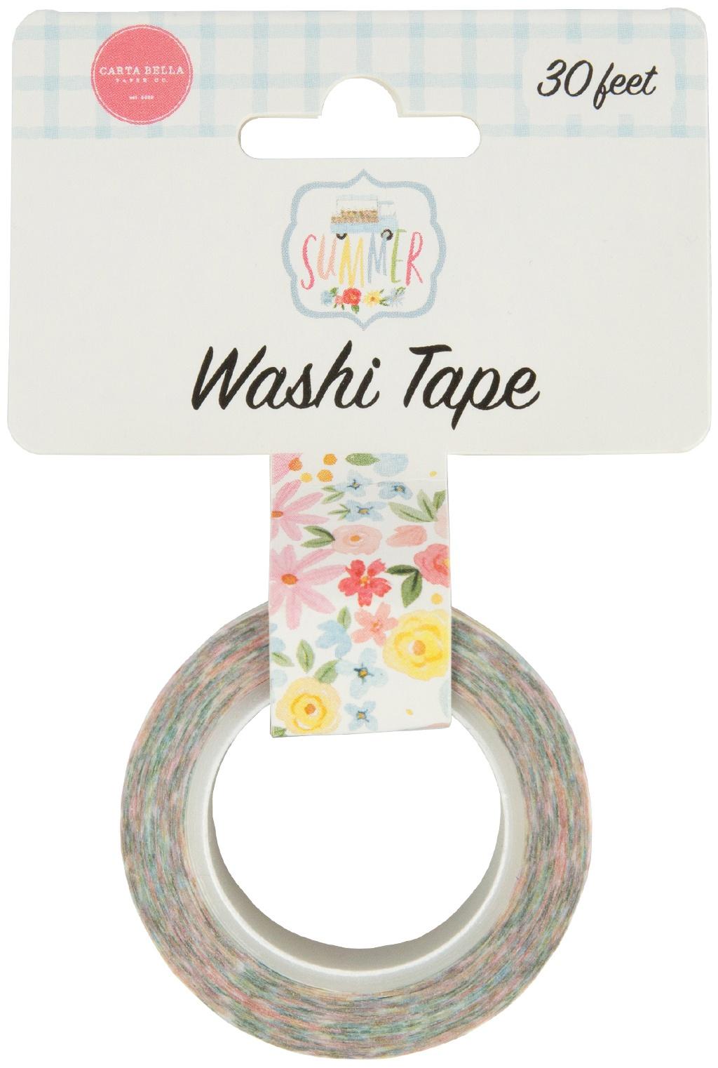 Carta Bella Flower Garden Washi Tape 30'-Sweetest Floral
