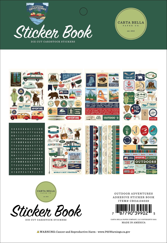Carta Bella Sticker Book-Outdoor Adventures