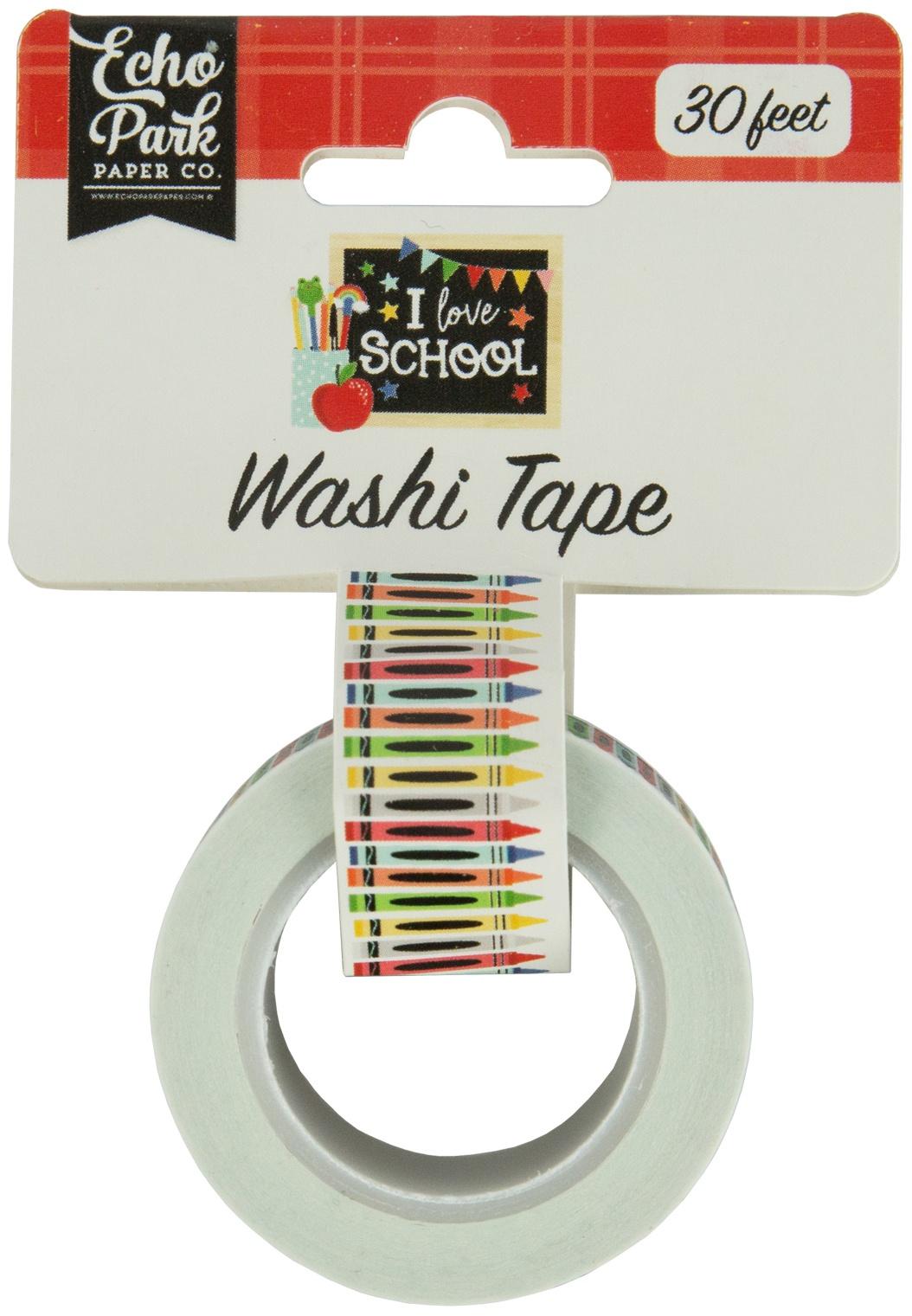 Echo Park I Love School Washi Tape 30'-Crayons