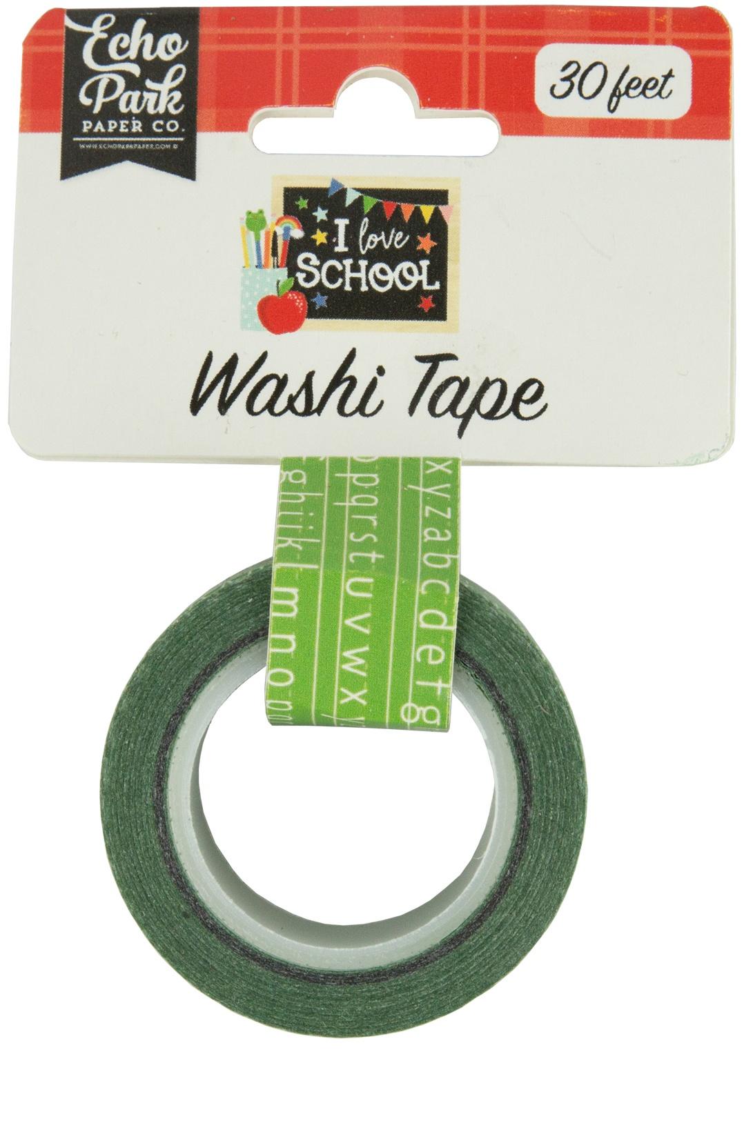 Echo Park I Love School Washi Tape 30'-Alphabet