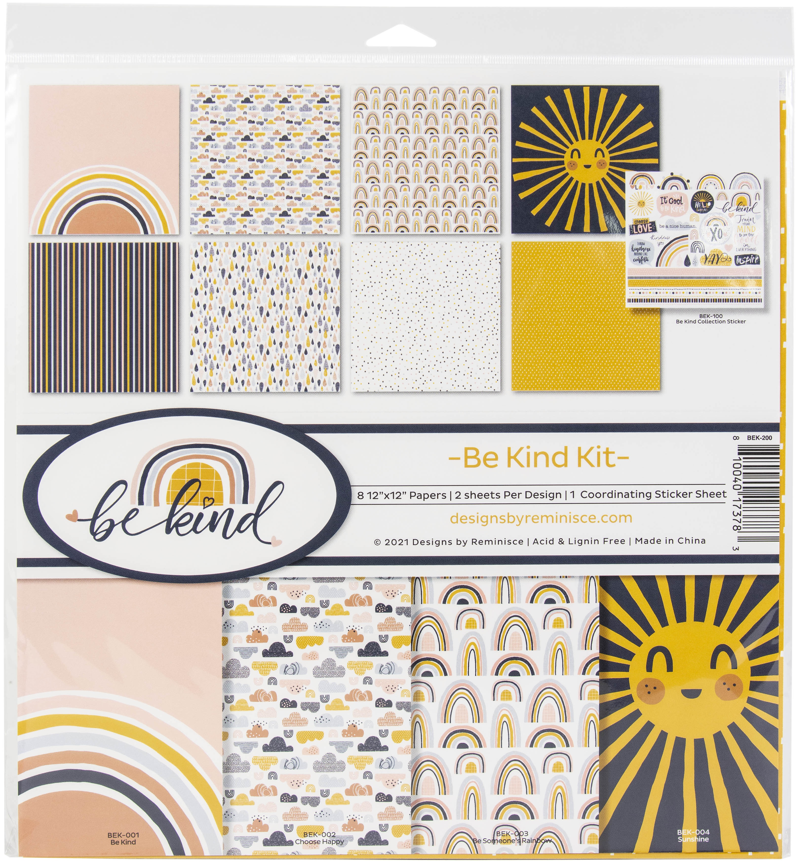 Reminisce Collection Kit 12X12-Be Kind