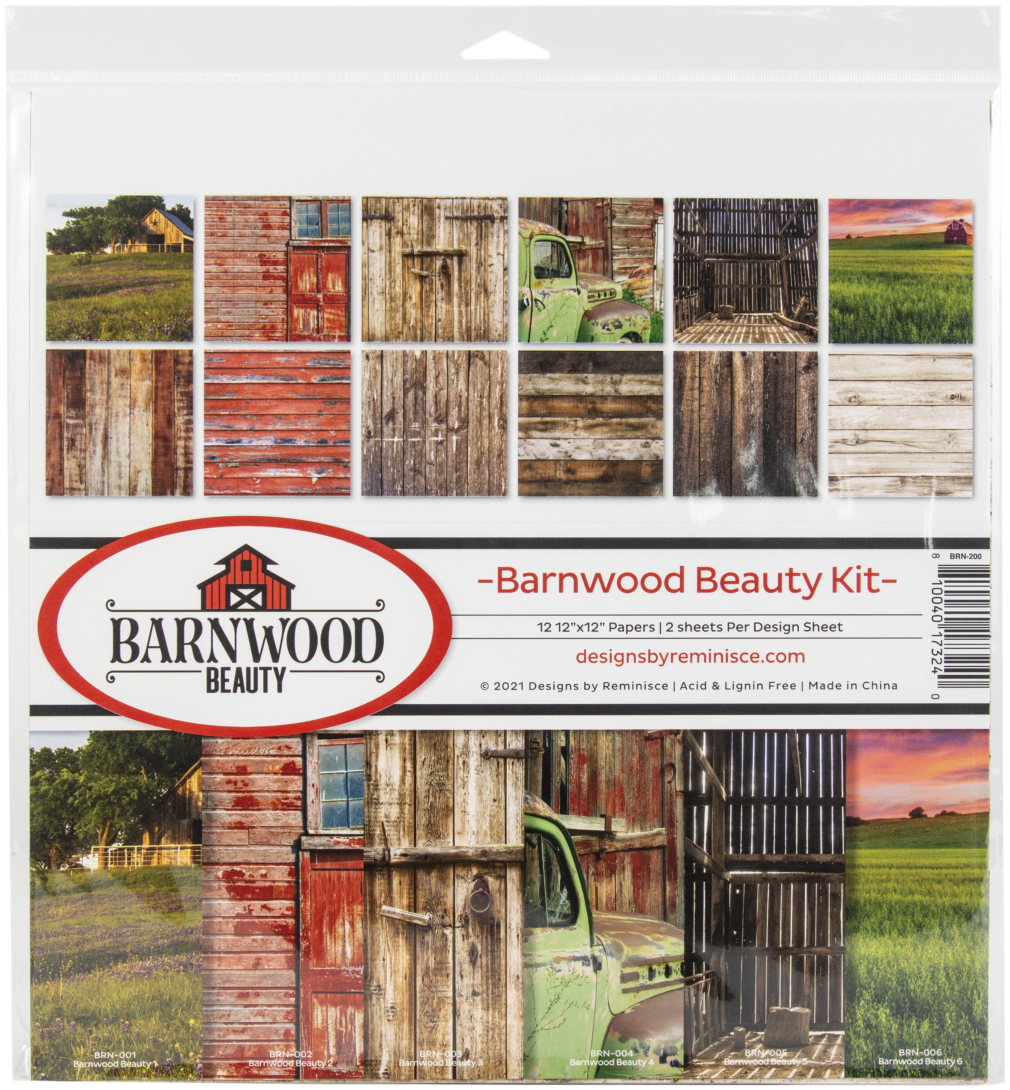Reminisce Collection Kit 12X12-Barnwood Beauty