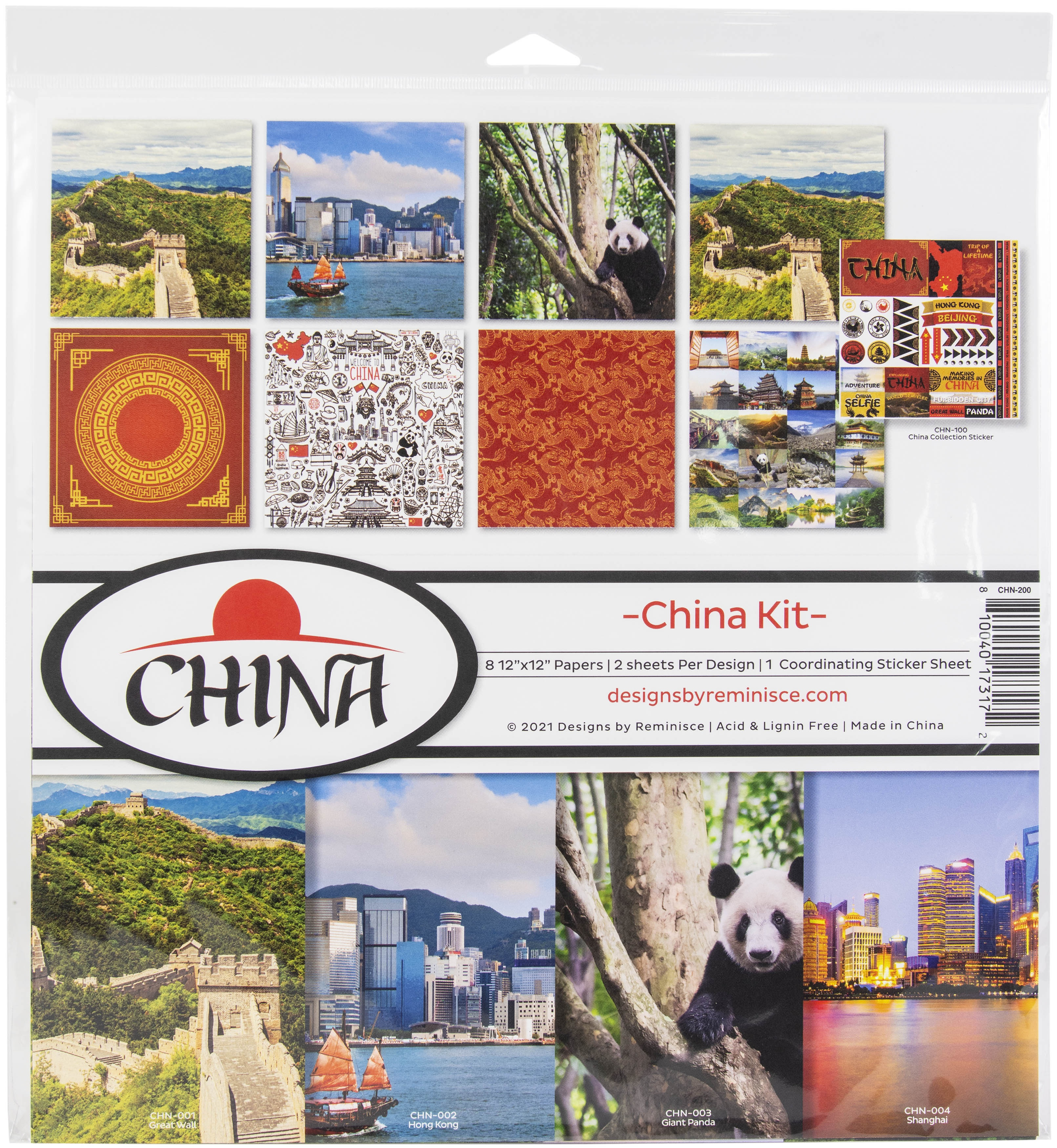 Reminisce Collection Kit 12X12-China