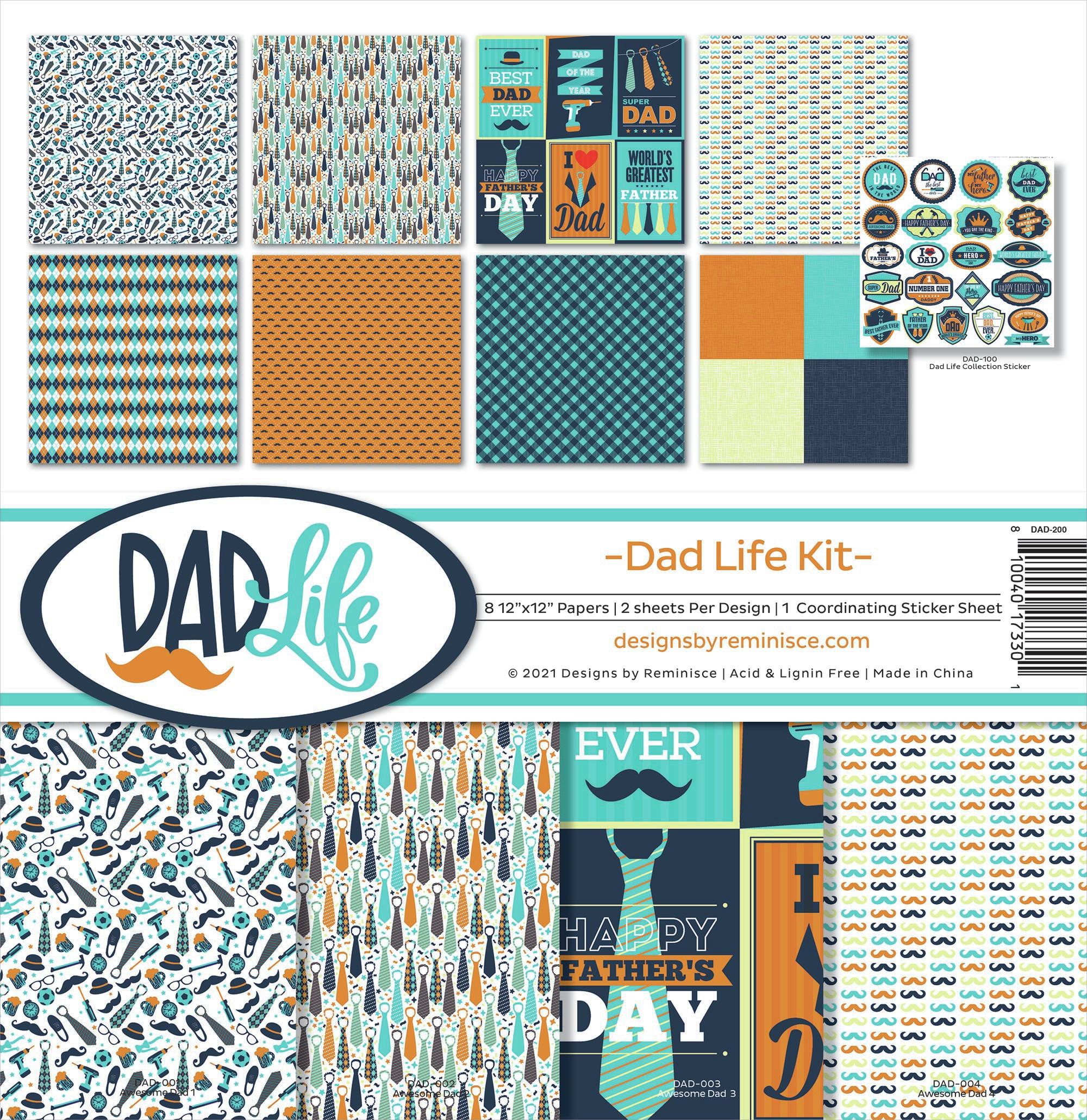 Reminisce Collection Kit 12X12-Dad Life