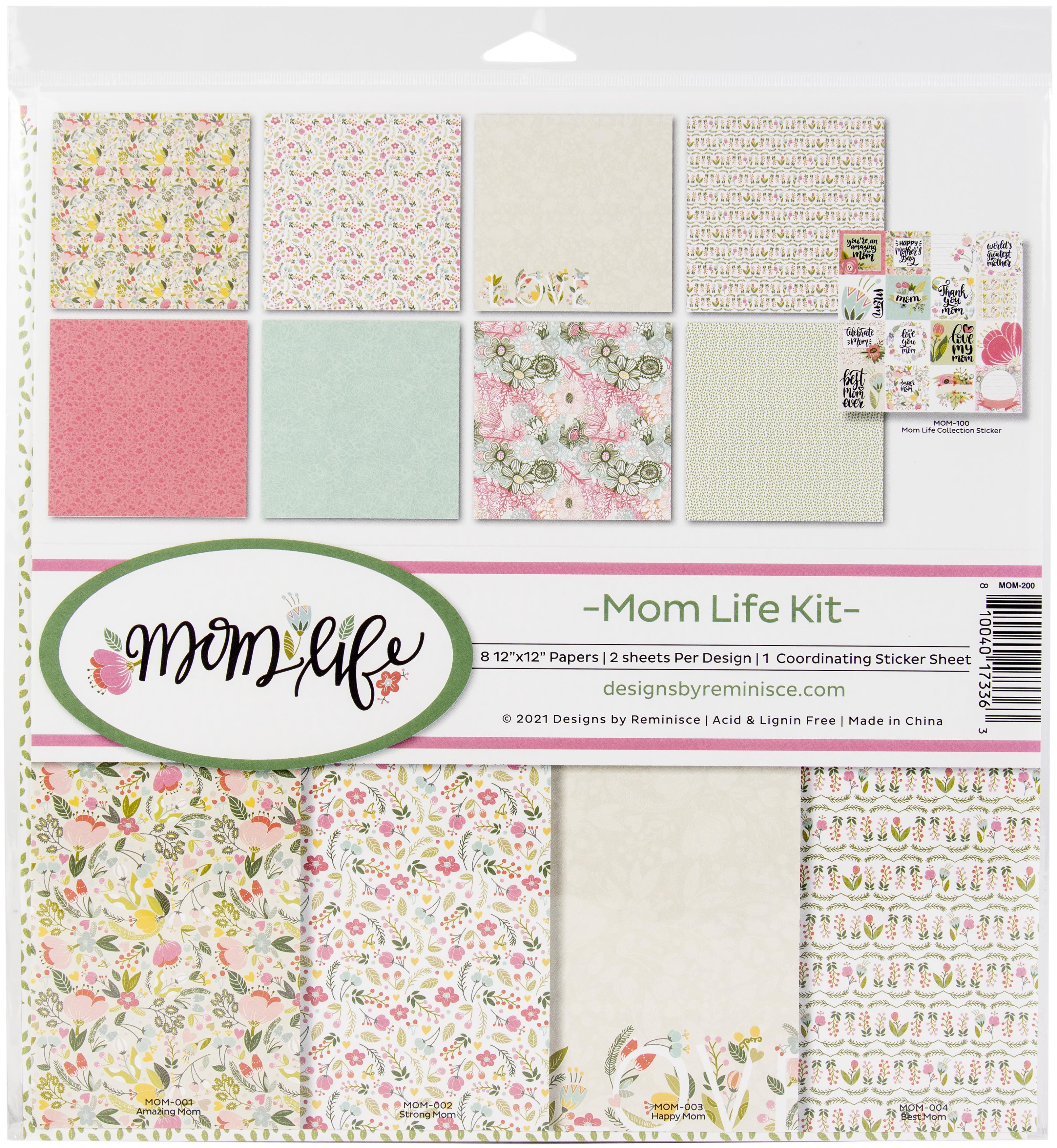 Reminisce Collection Kit 12X12-Mom Life